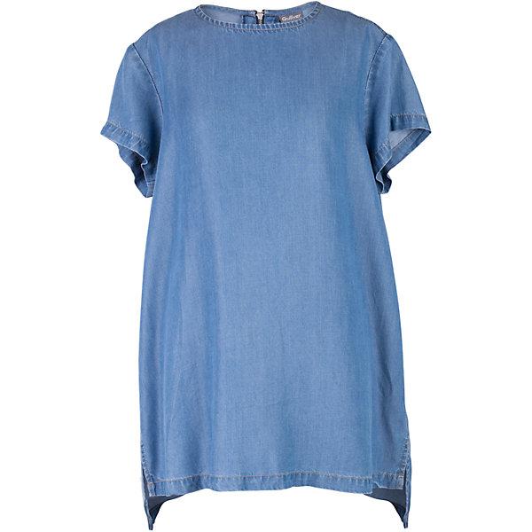 Блузка для девочки GulliverБлузки и рубашки<br>C наступлением долгожданных каникул пора на время забыть о строгих белых блузках с длинным рукавом и создать модный летний гардероб, соответствующий настроению. Мягкая, легкая, комфортная блузка из тонкой джинсы - лучшая компания  для городских прогулок и отдыха у воды! Стильный лаконичный дизайн и актуальные пропорции модели понравятся девочке, идущей в ногу со временем. Если вы решили освежить летний гардероб ребенка, дополнив его новыми, необычными и оригинальными вещами, вам стоит купить блузку для девочки из коллекции Коста-Рика. Она подарит новизну, свежесть, уверенность в себе.<br>Состав:<br>100% лиоцелл<br>Ширина мм: 186; Глубина мм: 87; Высота мм: 198; Вес г: 197; Цвет: синий; Возраст от месяцев: 156; Возраст до месяцев: 168; Пол: Женский; Возраст: Детский; Размер: 164,146,152,158; SKU: 5483120;