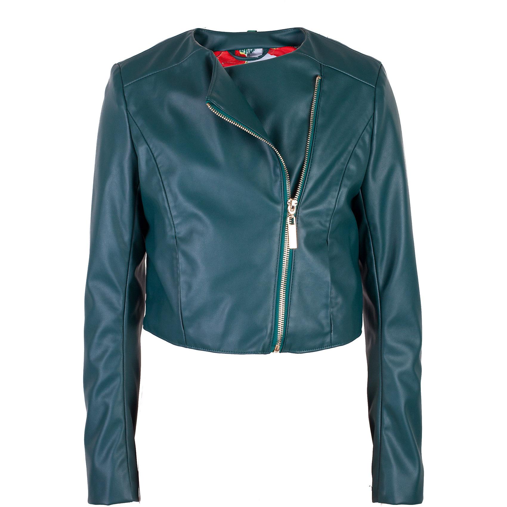 Ветровка для девочки GulliverВетровки и жакеты<br>Стильная куртка-косуха из эко-кожи для девочки - хит сезона Весна/Лето 2017! Она хороша в компании с джинсами, а также отлично выглядит в сочетании с брюками, юбкой, сарафаном.. Кожаная куртка в наше время - вещь универсальная. Темно-зеленая куртка-косуха идеально подойдет и для романтического, и для спортивного образа, придав им остроту и оригинальность. Купить модную куртку-косуху для девочки из коллекции Коста-Рика, значит, сделать ее образ эффектным, интересным, ярким.<br>Состав:<br>верх: 100% полиуретан; подкладка: 100% полиэстер<br><br>Ширина мм: 356<br>Глубина мм: 10<br>Высота мм: 245<br>Вес г: 519<br>Цвет: зеленый<br>Возраст от месяцев: 132<br>Возраст до месяцев: 144<br>Пол: Женский<br>Возраст: Детский<br>Размер: 152,164,158,146<br>SKU: 5483130