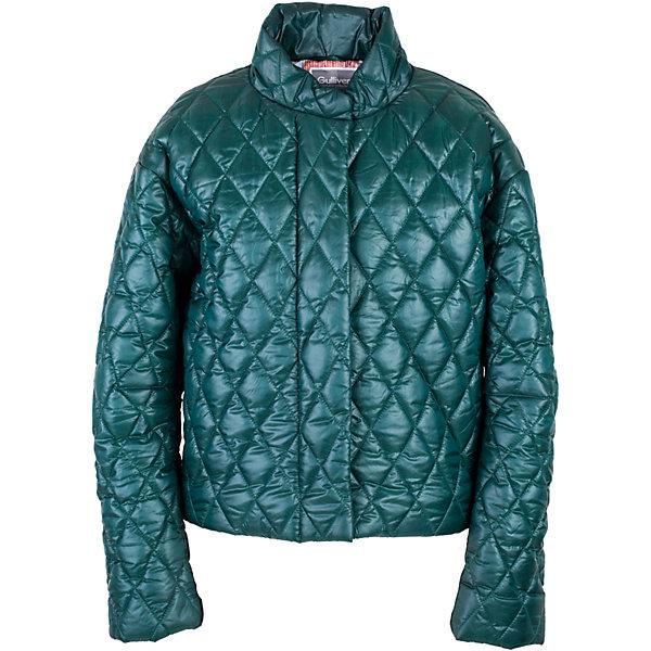 Куртка для девочки GulliverДемисезонные куртки<br>Прошли времена, когда детская куртка выполняла исключительно функциональную роль. Сейчас изделию недостаточно быть только удобным и теплым. Куртка для девочки должна быть стильной, элегантной, привлекательной и отражать в полной мере характер и предпочтения своей обладательницы! Именно такая, стеганая зеленая куртка может понравиться юной моднице. Если вы предпочитаете сформировать весенний гардероб ребенка из современных интересных вещей, вам стоит купить детскую куртку из коллекции Коста-Рика! В этой куртке вашему ребенку гарантирован прекрасный внешний вид, соответствие модным трендам, а также тепло, комфорт и свобода движений.<br>Состав:<br>верх:  60% полиэстер 40% нейлон; подкладка:  100% полиэстер; утеплитель:  100% полиэстер<br>Ширина мм: 356; Глубина мм: 10; Высота мм: 245; Вес г: 519; Цвет: зеленый; Возраст от месяцев: 132; Возраст до месяцев: 144; Пол: Женский; Возраст: Детский; Размер: 152,164,146,158; SKU: 5483135;