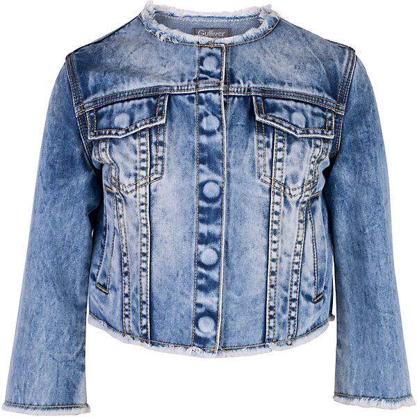 Жакет джинсовый для девочки GulliverДжинсовая одежда<br>Модная джинсовая куртка для девочки - изделие на все случаи жизни! Она прекрасно дополнит любой образ в стиле casual, став незаменимым атрибутом современного динамичного гардероба. Голубая куртка с модными потертостями, заминами и варкой выполнена из хлопковой джинсовой ткани, что делает ее очень комфортной и практичной в носке. Джинсовая детская куртка - отличный вариант на каждый день. Она придаст любому комплекту завершенность, сделав образ ярким и многослойным.<br>Состав:<br>100% хлопок<br><br>Ширина мм: 356<br>Глубина мм: 10<br>Высота мм: 245<br>Вес г: 519<br>Цвет: голубой<br>Возраст от месяцев: 156<br>Возраст до месяцев: 168<br>Пол: Женский<br>Возраст: Детский<br>Размер: 164,146,152,158<br>SKU: 5483140