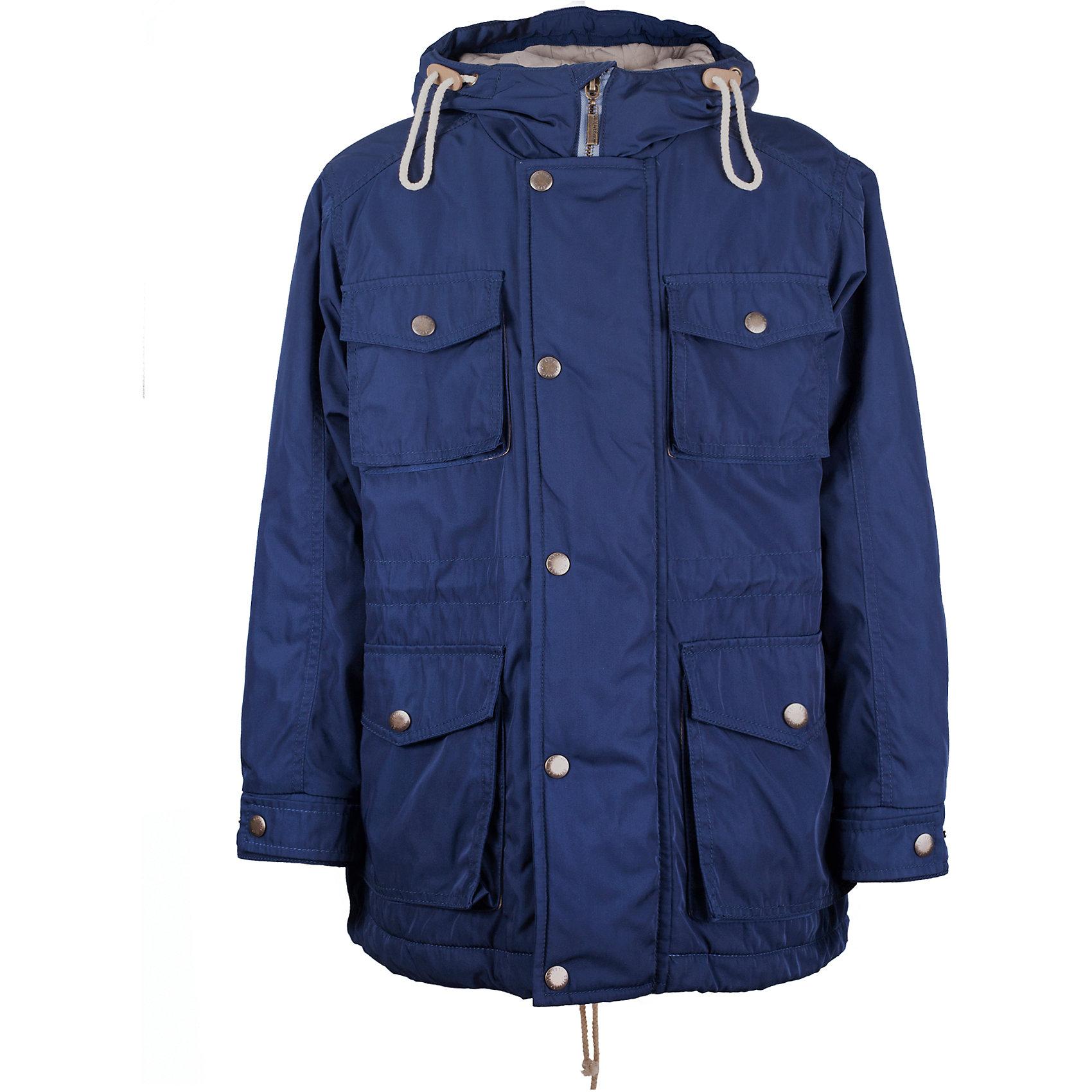 Куртка для мальчика GulliverВерхняя одежда<br>Куртка-парка - бесспорный хит сезона Весна/Лето 2017! Выполненная в лучших традициях стиля casual, синяя парка  -  прекрасный образец модной утепленной куртки для мальчика-подростка. Объемные карманы с клапанами, налокотники, функциональные детали, стильная брендированная фурнитура делают эту куртку ярким, заметным, энергичным элементом коллекции. Вы хотите купить стильную практичную куртку для мальчика-подростка? Синяя куртка-парка даже лучше, чем вы ожидаете!<br>Состав:<br>верх:  100% полиэстер; подкладка: 50% хлопок 50% полиэстер; утеплитель: 100% полиэстер<br><br>Ширина мм: 356<br>Глубина мм: 10<br>Высота мм: 245<br>Вес г: 519<br>Цвет: синий<br>Возраст от месяцев: 120<br>Возраст до месяцев: 132<br>Пол: Мужской<br>Возраст: Детский<br>Размер: 164,152,158,146<br>SKU: 5483216