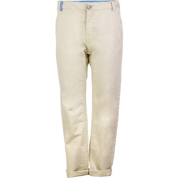 Брюки для мальчика GulliverБрюки<br>Шикарный вариант для весны и лета - модные бежевые брюки для мальчика! Благородный цвет, современный крой, правильная посадка изделия на фигуре делают брюки ярким элементом образа. С любой футболкой, рубашкой, пиджаком, они составят отличный комплект - модный и элегантный. Если вы хотите купить подростку светлые брюки, обратите внимание на эту модель. Они сделают летний гардероб ребенка свежим и стильным.<br>Состав:<br>98% хлопок      2% эластан<br>Ширина мм: 215; Глубина мм: 88; Высота мм: 191; Вес г: 336; Цвет: бежевый; Возраст от месяцев: 120; Возраст до месяцев: 132; Пол: Мужской; Возраст: Детский; Размер: 146,164,158,152; SKU: 5483234;
