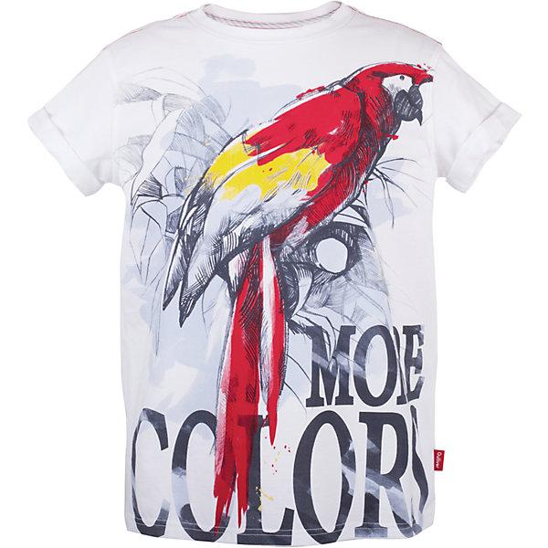 Футболка для мальчика GulliverФутболки, поло и топы<br>Шикарная футболка  с крупным принтом  - прекрасная модель для жаркого лета. Она создаст отличное настроение и сделает каждый день ребенка запоминающимся. Белая футболка для мальчика из коллекции Какаду - лучший пример футболки  с рисунком: оригинальный  декор, лихо нарисованный рукой талантливого дизайнера, делает изделие новым и интересным. Белая выглядит стильно, эффектно, оригинально! Актуальный объем и форма модели, а также превосходное качество трикотажного полотна создадут необыкновенный комфорт и подарят свободу движений..<br>Состав:<br>95% хлопок      5% эластан<br>Ширина мм: 199; Глубина мм: 10; Высота мм: 161; Вес г: 151; Цвет: белый; Возраст от месяцев: 156; Возраст до месяцев: 168; Пол: Мужской; Возраст: Детский; Размер: 164,146,158,152; SKU: 5483262;