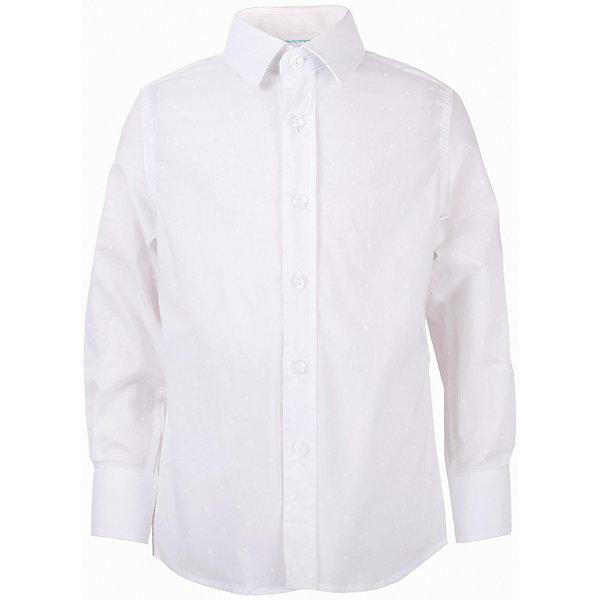 Рубашка для мальчика GulliverБлузки и рубашки<br>Модная рубашка для мальчика сделает образ ребенка новым и необычным! Интересная фактурная ткань, чуть приталенный силуэт делают рубашку эффектным элементом нарядного летнего гардероба! Если вы хотите купить оригинальную рубашку из 100% хлопка, которая способна подчеркнуть красоту и торжественность момента, эта рубашка - достойный  выбор! В ней ребенку гарантирован прекрасный внешний вид, а также комфорт и свобода движений.<br>Состав:<br>100% хлопок<br><br>Ширина мм: 174<br>Глубина мм: 10<br>Высота мм: 169<br>Вес г: 157<br>Цвет: белый<br>Возраст от месяцев: 36<br>Возраст до месяцев: 48<br>Пол: Мужской<br>Возраст: Детский<br>Размер: 104,98,116,110<br>SKU: 5483330