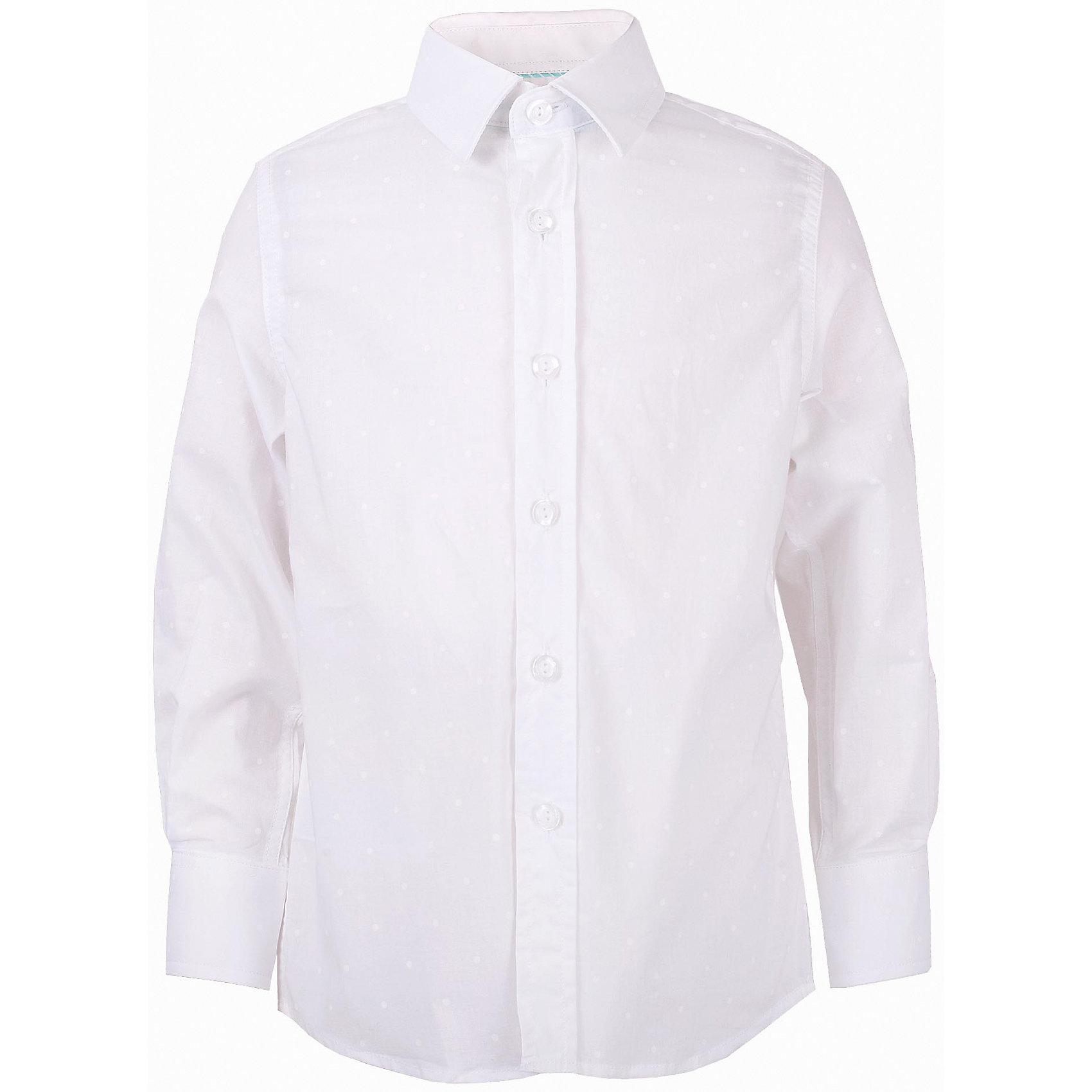 Рубашка для мальчика GulliverБлузки и рубашки<br>Модная рубашка для мальчика сделает образ ребенка новым и необычным! Интересная фактурная ткань, чуть приталенный силуэт делают рубашку эффектным элементом нарядного летнего гардероба! Если вы хотите купить оригинальную рубашку из 100% хлопка, которая способна подчеркнуть красоту и торжественность момента, эта рубашка - достойный  выбор! В ней ребенку гарантирован прекрасный внешний вид, а также комфорт и свобода движений.<br>Состав:<br>100% хлопок<br><br>Ширина мм: 174<br>Глубина мм: 10<br>Высота мм: 169<br>Вес г: 157<br>Цвет: белый<br>Возраст от месяцев: 24<br>Возраст до месяцев: 36<br>Пол: Мужской<br>Возраст: Детский<br>Размер: 98,104,110,116<br>SKU: 5483330