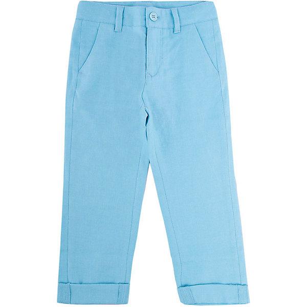 Брюки для мальчика GulliverБрюки<br>Несмотря на то, что джинсы по-прежнему занимают в гардеробе ребенка первое место, классические брюки для мальчика никто не отменял! Походы в театр, в гости, на важные и торжественные мероприятия предполагают на ребенке особый look. Модные светлые брюки в сочетании со стильной рубашкой, джемпером, пиджаком или жилетом и ваш ребенок будет неотразим! Натуральный лен с характерными элегантными заминами придает модели особый шарм. Ментоловый цвет выглядит нарядно, благородно, изысканно!<br>Состав:<br>100% лён<br><br>Ширина мм: 215<br>Глубина мм: 88<br>Высота мм: 191<br>Вес г: 336<br>Цвет: голубой<br>Возраст от месяцев: 36<br>Возраст до месяцев: 48<br>Пол: Мужской<br>Возраст: Детский<br>Размер: 104,98,116,110<br>SKU: 5483340