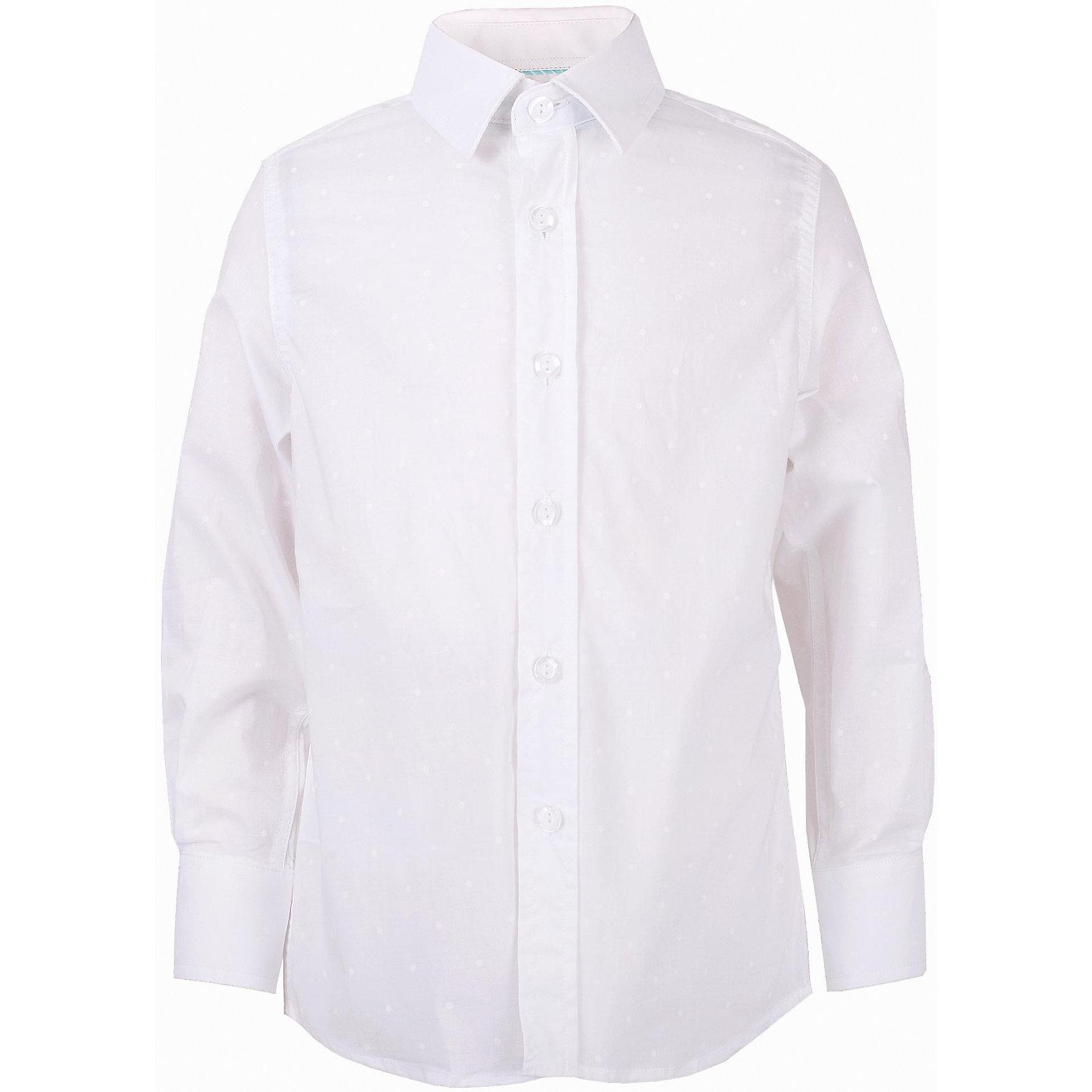 Рубашка для мальчика GulliverБлузки и рубашки<br>Модная рубашка для мальчика сделает образ ребенка новым и необычным! Интересная фактурная ткань, чуть приталенный силуэт делают рубашку эффектным элементом нарядного летнего гардероба! Словом, если вы хотите купить оригинальную рубашку из 100% хлопка, которая способна подчеркнуть красоту и торжественность момента, эта рубашка - достойный  выбор! В ней ребенку гарантирован прекрасный внешний вид, а также комфорт и свобода движений.<br>Состав:<br>100% хлопок<br><br>Ширина мм: 174<br>Глубина мм: 10<br>Высота мм: 169<br>Вес г: 157<br>Цвет: белый<br>Возраст от месяцев: 156<br>Возраст до месяцев: 168<br>Пол: Мужской<br>Возраст: Детский<br>Размер: 164,146,152,158<br>SKU: 5483345