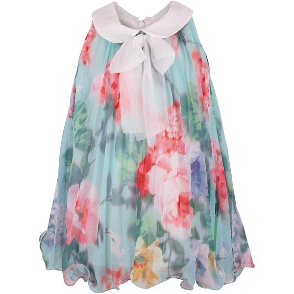 Платье для девочки GulliverПлатья<br>Воздушный орнаментальный шифон… Любое платье из него - настоящий шедевр! Потрясающий цветочный рисунок ткани в розово-ментоловой гамме, летящий трапециевидный силуэт, элегантное оформление горловины легким бантом настраивают на романтический лад, создавая нежный благородный образ, наполненной красотой и изяществом. Если вы предпочитаете иметь в гардеробе малышки одну стильную нарядную вещь, вам стоит купить платье из коллекции Акварель и вашему ребенку гарантирован образ принцессы с хорошим вкусом и благородными манерами.<br>Состав:<br>100% хлопок/100% полиэстер<br><br>Ширина мм: 236<br>Глубина мм: 16<br>Высота мм: 184<br>Вес г: 177<br>Цвет: голубой<br>Возраст от месяцев: 12<br>Возраст до месяцев: 15<br>Пол: Женский<br>Возраст: Детский<br>Размер: 80,86,80<br>SKU: 5483361