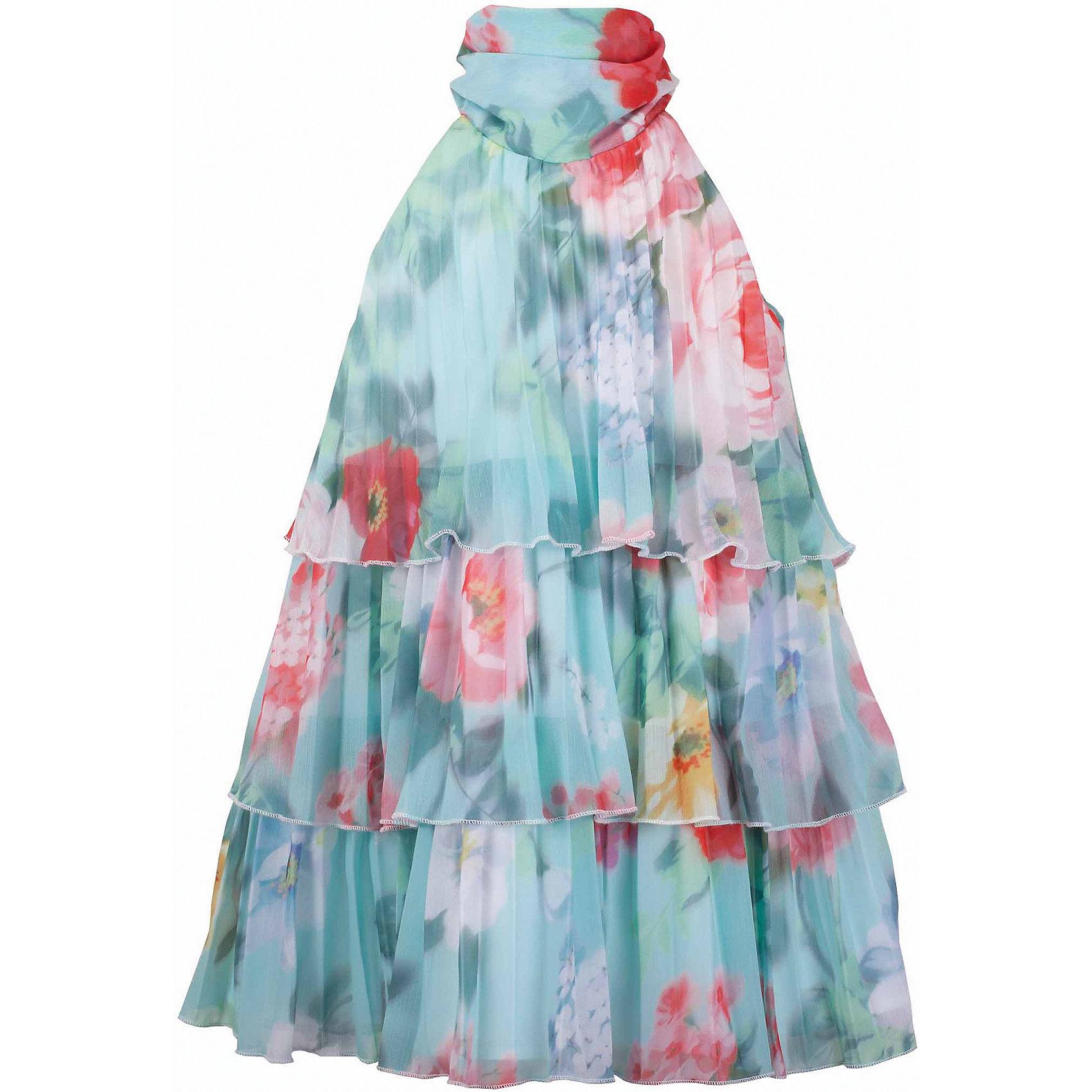 Платье для девочки GulliverОдежда<br>Воздушный орнаментальный шифон… Любое платье из него - настоящий шедевр! Потрясающий цветочный рисунок ткани в розово-ментоловой гамме, летящий трапециевидный силуэт, элегантное оформление горловины легким бантом настраивают на романтический лад, создавая нежный благородный образ, наполненной красотой и изяществом. Если вы предпочитаете иметь в гардеробе девочки хотя бы одну стильную нарядную вещь, вам стоит купить платье из коллекции Акварель и вашему ребенку гарантирован образ современной принцессы с хорошим вкусом и благородными манерами.<br>Состав:<br>верх:               100% полиэстер; подкладка:           100% хлопок<br><br>Ширина мм: 236<br>Глубина мм: 16<br>Высота мм: 184<br>Вес г: 177<br>Цвет: голубой<br>Возраст от месяцев: 108<br>Возраст до месяцев: 120<br>Пол: Женский<br>Возраст: Детский<br>Размер: 140,122,128,134<br>SKU: 5483369
