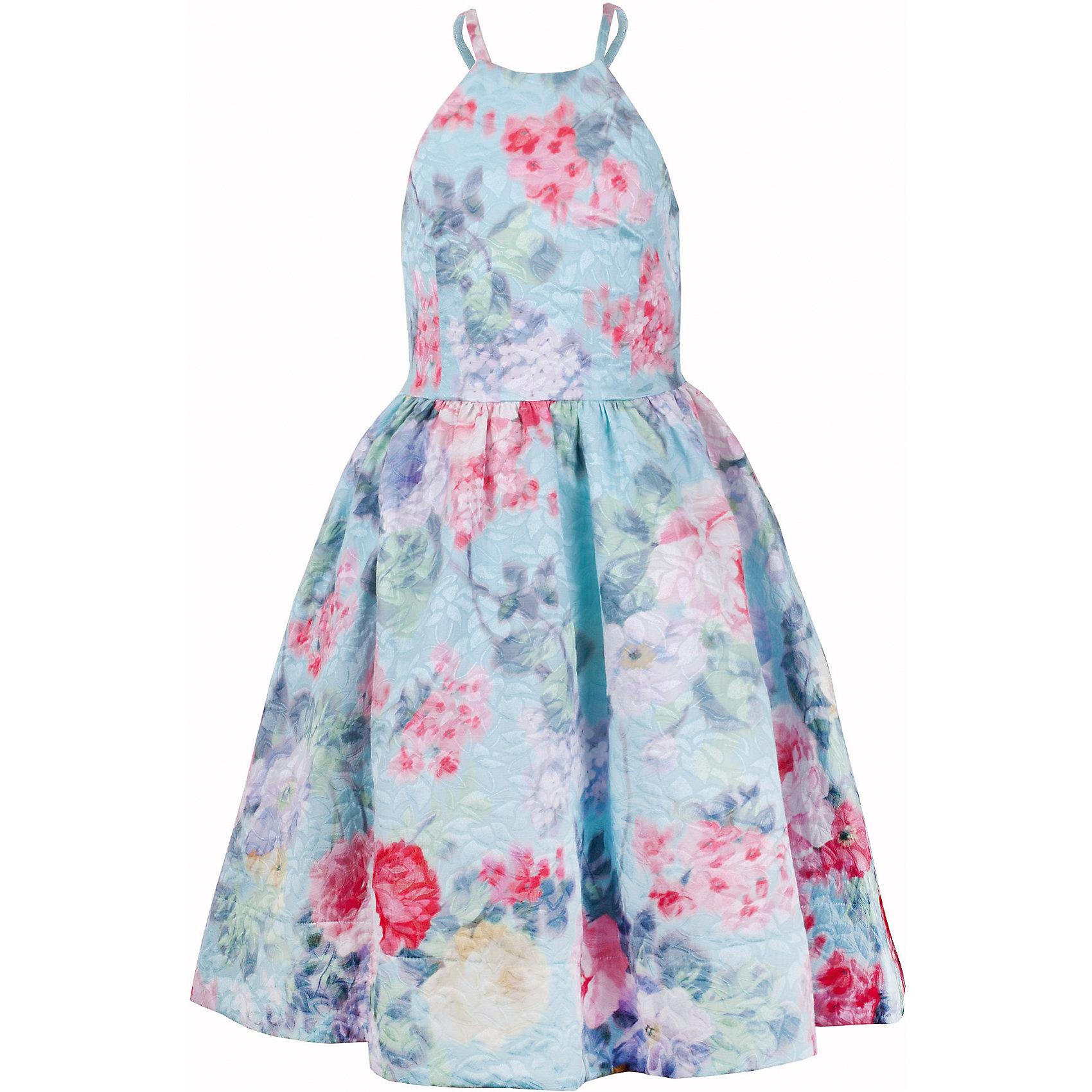 Платье для девочки GulliverОдежда<br>Роскошное жаккардовое платье из плотного орнаментального текстиля - образец благородства и изящества. Приталенный лиф на тонких лямках и широкая пышная юбка создают головокружительный эффект модели для настоящей принцессы. В гардеробе ребенка не должно быть много нарядных платьев. Всего одно, но самого высокого качества, с нежным цветочным рисунком в розово-ментоловой гамме подарит девочке красоту, грациозность, элегантность, уверенность в себе и восторг окружающих. Если вы хотите дополнить летний гардероб ребенка чем-то необыкновенным, вам стоит купить платье для торжественных случаев из коллекции Акварель.  Это лучший выбор для модной современной принцессы с хорошим вкусом и благородными манерами.<br>Состав:<br>верх:                  63% хлопок          37% полиэстер; подкладка:           100% хлопок<br><br>Ширина мм: 236<br>Глубина мм: 16<br>Высота мм: 184<br>Вес г: 177<br>Цвет: голубой<br>Возраст от месяцев: 108<br>Возраст до месяцев: 120<br>Пол: Женский<br>Возраст: Детский<br>Размер: 140,122,128,134<br>SKU: 5483374