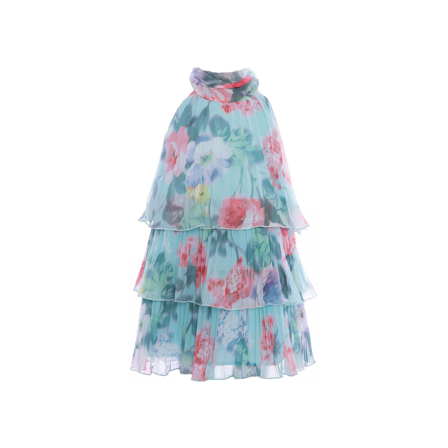 Платье для девочки GulliverОдежда<br>Воздушный орнаментальный шифон… Любое платье из него - настоящий шедевр! Потрясающий цветочный рисунок ткани в розово-ментоловой гамме, летящий трапециевидный силуэт, элегантное оформление горловины легким бантом настраивают на романтический лад, создавая нежный благородный образ, наполненной красотой и изяществом. Если вы предпочитаете иметь в гардеробе девочки хотя бы одну стильную нарядную вещь, вам стоит купить платье из коллекции Акварель и вашему ребенку гарантирован образ современной принцессы с хорошим вкусом и благородными манерами.<br>Состав:<br>100% хлопок/ 100% полиэстер<br><br>Ширина мм: 236<br>Глубина мм: 16<br>Высота мм: 184<br>Вес г: 177<br>Цвет: голубой<br>Возраст от месяцев: 24<br>Возраст до месяцев: 36<br>Пол: Женский<br>Возраст: Детский<br>Размер: 98,104,110,116<br>SKU: 5483389
