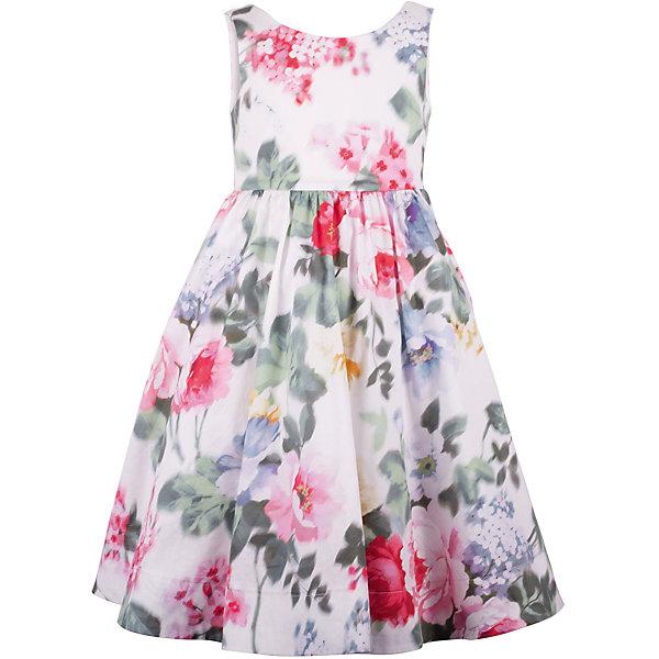 Платье для девочки GulliverОдежда<br>Роскошное платье из благородного хлопка с выразительным цветочным рисунком, сконцентрированном в средней части модели и плавно растворяющимся к верху и низу, производит неизгладимое впечатление! Изящный лиф, пышная юбка, продуманная длина модели и точные пропорции делают платье незаменимой моделью для выхода в свет. Оно привнесет в образ ребенка яркие индивидуальные черты, подчеркнет романтичность и утонченность и, конечно, привлечет восхищенные взгляды окружающих. Если вы хотите приобрести что-то необыкновенное, вам стоит купить это платье из коллекции Акварель. Оно создаст образ современной принцессы с хорошим вкусом и благородными манерами.<br>Состав:<br>верх:                100% хлопок; подкладка:           100% хлопок<br><br>Ширина мм: 236<br>Глубина мм: 16<br>Высота мм: 184<br>Вес г: 177<br>Цвет: белый<br>Возраст от месяцев: 48<br>Возраст до месяцев: 60<br>Пол: Женский<br>Возраст: Детский<br>Размер: 110,116,104,98<br>SKU: 5483394