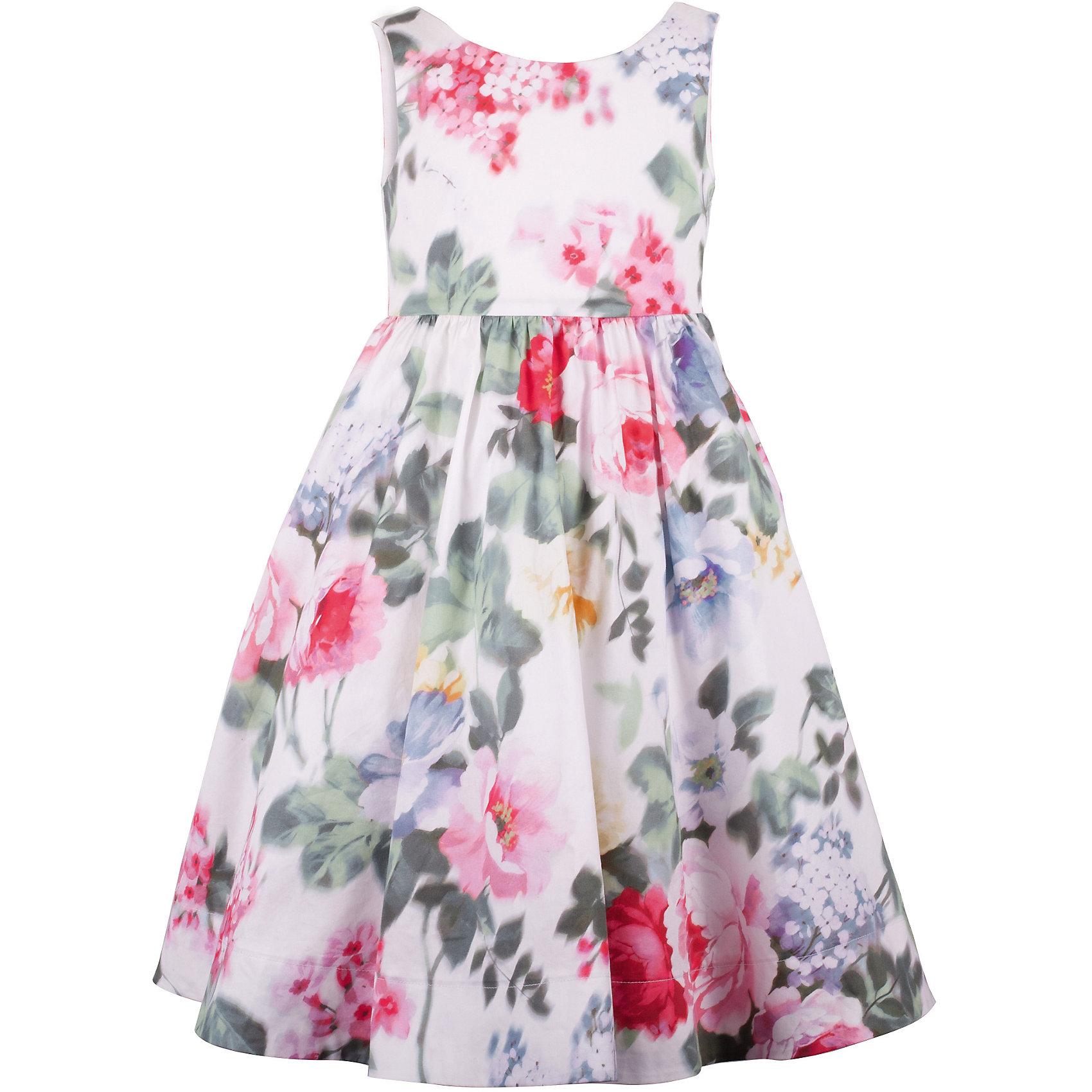 Платье для девочки GulliverОдежда<br>Роскошное платье из благородного хлопка с выразительным цветочным рисунком, сконцентрированном в средней части модели и плавно растворяющимся к верху и низу, производит неизгладимое впечатление! Изящный лиф, пышная юбка, продуманная длина модели и точные пропорции делают платье незаменимой моделью для выхода в свет. Оно привнесет в образ ребенка яркие индивидуальные черты, подчеркнет романтичность и утонченность и, конечно, привлечет восхищенные взгляды окружающих. Если вы хотите приобрести что-то необыкновенное, вам стоит купить это платье из коллекции Акварель. Оно создаст образ современной принцессы с хорошим вкусом и благородными манерами.<br>Состав:<br>верх:                100% хлопок; подкладка:           100% хлопок<br><br>Ширина мм: 236<br>Глубина мм: 16<br>Высота мм: 184<br>Вес г: 177<br>Цвет: белый<br>Возраст от месяцев: 24<br>Возраст до месяцев: 36<br>Пол: Женский<br>Возраст: Детский<br>Размер: 98,104,110,116<br>SKU: 5483394