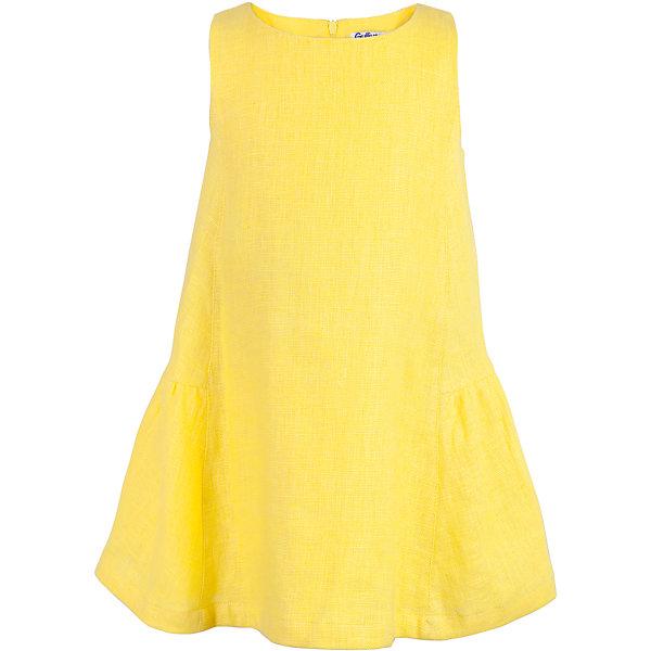 Платье для девочки GulliverЛетние платья и сарафаны<br>Характеристики товара:<br><br>• цвет: желтый<br>• состав ткани: 100% лён<br>• подкладка: 100% хлопок<br>• без рукавов<br>• трапециевидный силуэт<br>• застёжка: молния<br>• сезон: лето<br>• страна бренда: Российская Федерация<br>• страна производства: Китай<br><br>Яркое однотонное платье жёлтого цвета для девочки, из коллекции Ромашка от бренда Гулливер. Платье из льна на подкладке из хлопка. Застёгивается сзади на молнию. Длина молнии по всей спинке. Платье трапециевидного силуэта.<br><br>Платье для девочки от известного бренда Gulliver можно купить в нашем интернет-магазине.<br><br>Ширина мм: 236<br>Глубина мм: 16<br>Высота мм: 184<br>Вес г: 177<br>Цвет: желтый<br>Возраст от месяцев: 36<br>Возраст до месяцев: 48<br>Пол: Женский<br>Возраст: Детский<br>Размер: 104,98,116,110<br>SKU: 5483554