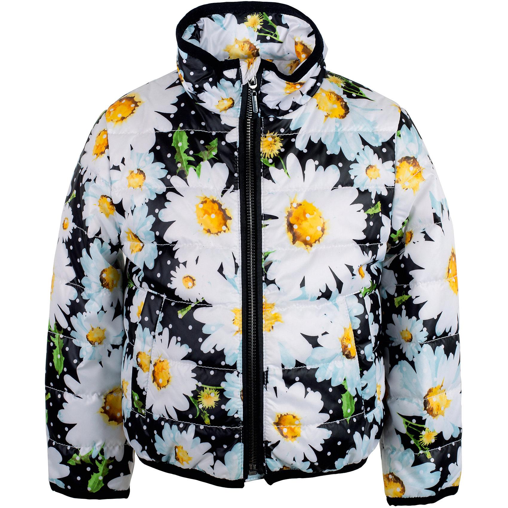 Куртка для девочки GulliverДемисезонные куртки<br>Характеристики товара:<br><br>• цвет: чёрный<br>• материал: 100% полиэстер<br>• подкладка: 50% хлопок 50% полиэстер<br>• утеплитель: 100% полиэстер 100 г/кв.м<br>• температурный режим: от +5°С до +15°С<br>• застёжка: молния<br>• два прорезных кармана по бокам<br>• прямой покрой<br>• без капюшона<br>• сезон: демисезон<br>• страна бренда: Российская Федерация<br>• страна производства: Китай<br><br>Утеплённая куртка чёрного цвета для девочки из коллекции Ромашки от бренда Гулливер. Куртка украшена принтом в виде цветов ромашки. Надежно защитит от ветра и непогоды в межсезонье. <br><br>Куртку для девочки от известного бренда Gulliver можно купить в нашем интернет-магазине.<br><br>Ширина мм: 356<br>Глубина мм: 10<br>Высота мм: 245<br>Вес г: 519<br>Цвет: черный<br>Возраст от месяцев: 24<br>Возраст до месяцев: 36<br>Пол: Женский<br>Возраст: Детский<br>Размер: 98,104,110,116<br>SKU: 5483569