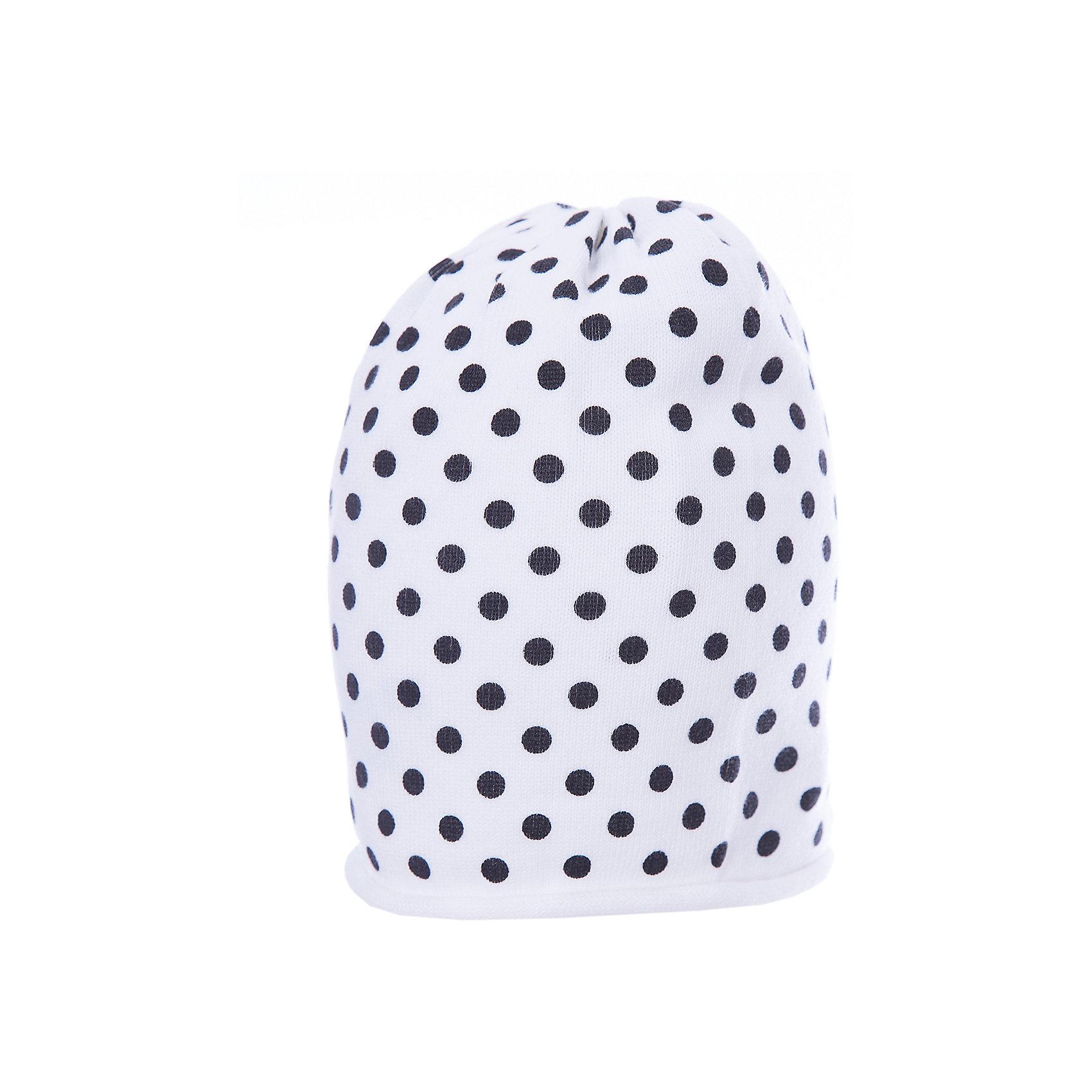 Шапка для девочки GulliverЯркая вязаная шапка красиво завершит образ, сделав его новым, свежим, интересным. Если вы хотите сформировать модный позитивный весенне-летний гардероб юной леди, белая шапка в горошек с изящным руликом и контрастным брендированным флажком - отличный выбор.<br>Состав:<br>100% хлопок<br><br>Ширина мм: 89<br>Глубина мм: 117<br>Высота мм: 44<br>Вес г: 155<br>Цвет: белый<br>Возраст от месяцев: 48<br>Возраст до месяцев: 60<br>Пол: Женский<br>Возраст: Детский<br>Размер: 52,50<br>SKU: 5483599