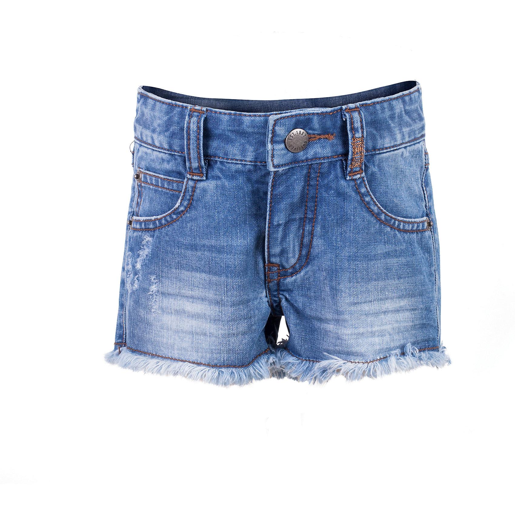 Шорты джинсовые для девочки GulliverШорты, бриджи, капри<br>Джинсовые шорты для девочки - необходимая вещь для летнего отдыха! Мягкие, удобные, комфортные, шорты выполнены из тонкой джинсы с выразительными потертостями и повреждениями. Если вы хотите сформировать правильный летний гардероб ребенка, вам стоит купить джинсовые шорты и вы убедитесь в их качестве, удобстве и практичности. Синие джинсовые шорты с брендированной металлической фурнитурой - отличный выбор для стильного комфортного лета!<br>Состав:<br>100% хлопок<br><br>Ширина мм: 191<br>Глубина мм: 10<br>Высота мм: 175<br>Вес г: 273<br>Цвет: синий<br>Возраст от месяцев: 36<br>Возраст до месяцев: 48<br>Пол: Женский<br>Возраст: Детский<br>Размер: 104,98,116,110<br>SKU: 5483720
