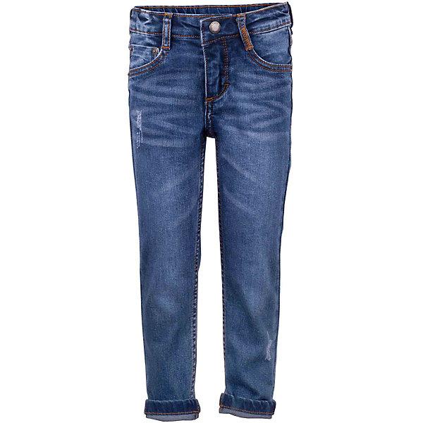 Джинсы для девочки GulliverДжинсовая одежда<br>Узкие вареные джинсы для девочки с актуальными потертостями и повреждениями сделают образ юной модницы ярким и современным! Синие джинсы, ставшие классикой повседневного стиля - идеальный вариант для теплой весенней погоды. Если вы хотите купить детские джинсы, но не можете определиться с моделью, джинсы из коллекции Коралловые рифы - оптимальное решение! Удобные и практичные, джинсы из хлопка с эластаном гарантируют свободу движений, а также красивое и комфортное прилегание к фигуре.<br>Состав:<br>98% хлопок      2% эластан<br>Ширина мм: 215; Глубина мм: 88; Высота мм: 191; Вес г: 336; Цвет: синий; Возраст от месяцев: 24; Возраст до месяцев: 36; Пол: Женский; Возраст: Детский; Размер: 98,104,116,110; SKU: 5483725;