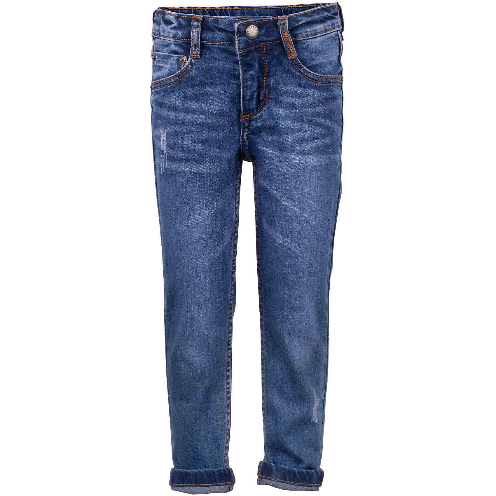 Джинсы для девочки GulliverДжинсовая одежда<br>Узкие вареные джинсы для девочки с актуальными потертостями и повреждениями сделают образ юной модницы ярким и современным! Синие джинсы, ставшие классикой повседневного стиля - идеальный вариант для теплой весенней погоды. Если вы хотите купить детские джинсы, но не можете определиться с моделью, джинсы из коллекции Коралловые рифы - оптимальное решение! Удобные и практичные, джинсы из хлопка с эластаном гарантируют свободу движений, а также красивое и комфортное прилегание к фигуре.<br>Состав:<br>98% хлопок      2% эластан<br><br>Ширина мм: 215<br>Глубина мм: 88<br>Высота мм: 191<br>Вес г: 336<br>Цвет: синий<br>Возраст от месяцев: 24<br>Возраст до месяцев: 36<br>Пол: Женский<br>Возраст: Детский<br>Размер: 116,98,104,110<br>SKU: 5483725