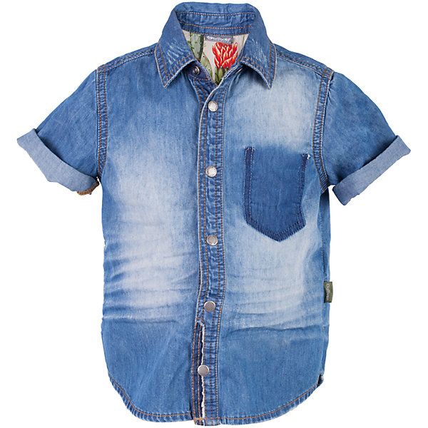 Рубашка джинсовая для мальчика GulliverБлузки и рубашки<br>Джинсовая рубашка для мальчика входит в Топ 10 самых популярных моделей сезона Весна/Лето 2017! Модная форма, классная варка, замины, повреждения, заплатки делают рубашку ярким акцентом повседневного образа. Симпатичный элемент, внутренняя кокетка спинки, созданная из цветного текстиля, говорит о продуманности и внимании к деталям. Стильная джинсовая рубашка - идеальный вариант для тех, кто идет в ногу со временем, предпочитая безупречный стиль и элегантность от Gulliver.<br>Состав:<br>100% хлопок<br>Ширина мм: 174; Глубина мм: 10; Высота мм: 169; Вес г: 157; Цвет: синий; Возраст от месяцев: 36; Возраст до месяцев: 48; Пол: Мужской; Возраст: Детский; Размер: 104,98,116,110; SKU: 5483796;