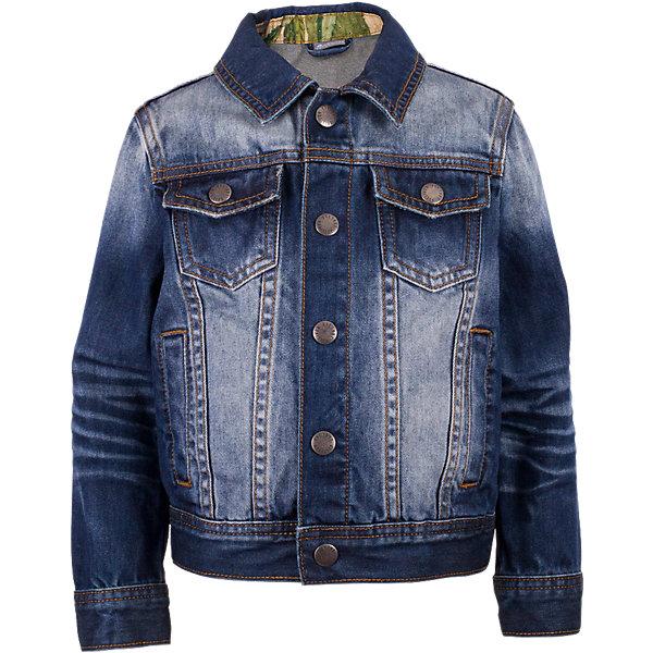 Жакет джинсовый для мальчика GulliverДжинсовая одежда<br>Модная джинсовая куртка для мальчика - изделие на все случаи жизни! Она прекрасно дополнит любой образ в стиле casual, а также станет любимым атрибутом спортивного стиля! Синяя куртка с модными потертостями, варкой и заплатками выполнена из хлопковой джинсовой ткани, что делает ее очень удобной и практичной в носке. Джинсовая детская куртка - отличный вариант на каждый день. Она создаст комфорт и придаст любому комплекту завершенность.<br>Состав:<br>100% хлопок<br><br>Ширина мм: 356<br>Глубина мм: 10<br>Высота мм: 245<br>Вес г: 519<br>Цвет: синий<br>Возраст от месяцев: 36<br>Возраст до месяцев: 48<br>Пол: Мужской<br>Возраст: Детский<br>Размер: 104,98,110,116<br>SKU: 5483811