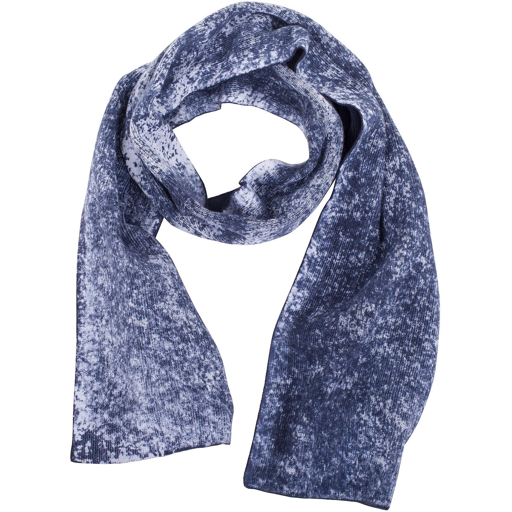 Шарф для мальчика GulliverСтильный вязаный шарф - важный элемент повседневного образа. Он защитит юного модника от весенней прохлады, а также придаст образу завершенность. Вы решили купить необычный вязаный шарф для мальчика? Красивый синий шарф с модным типом крашения, имитирующим эффект изделия, выгоревшего на солнце - прекрасный выбор!<br>Состав:<br>100% хлопок<br><br>Ширина мм: 88<br>Глубина мм: 155<br>Высота мм: 26<br>Вес г: 106<br>Цвет: синий<br>Возраст от месяцев: 24<br>Возраст до месяцев: 72<br>Пол: Мужской<br>Возраст: Детский<br>Размер: one size<br>SKU: 5483852