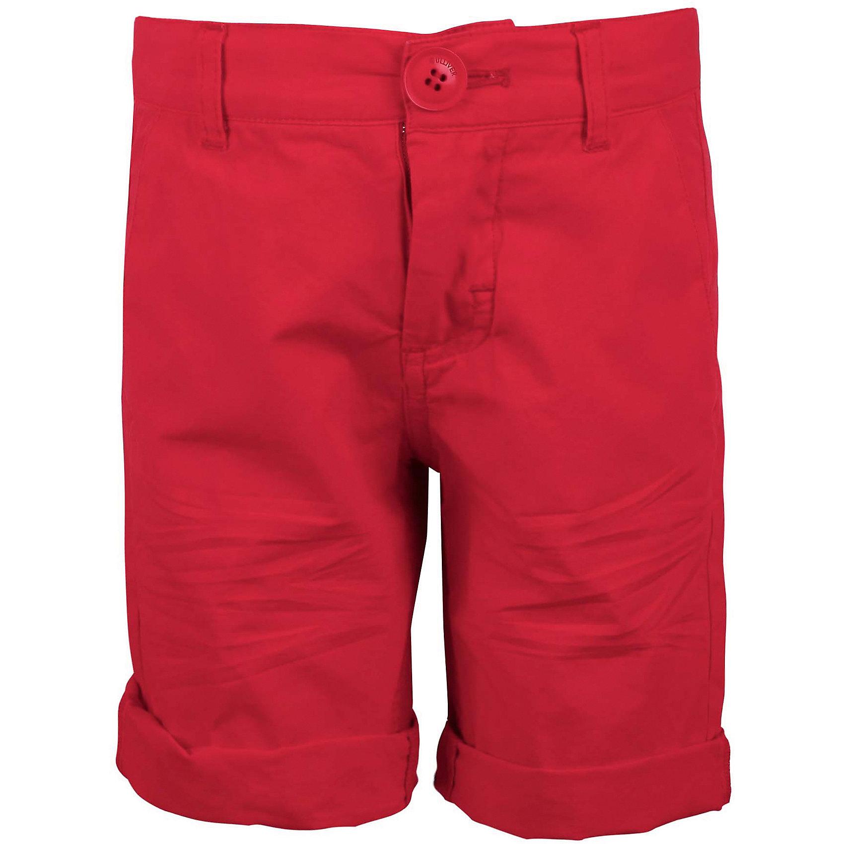 Шорты для мальчика GulliverШорты, бриджи, капри<br>В преддверии лета мы хотим привнести в свою жизнь новые краски! Уберем подальше все темное, практичное, мрачное и наполним гардероб яркими интересными моделями, которые будут создавать позитивное настроение! Купить красные шорты для мальчика, значит, идти в ногу со временем! Модные шорты из  мягкого хлопка придадут летнему гардеробу особый шарм! С любым джемпером, курткой, жилетом, пиджаком шорты составят отличный комплект - стильный и современный!<br>Состав:<br>100% хлопок<br><br>Ширина мм: 191<br>Глубина мм: 10<br>Высота мм: 175<br>Вес г: 273<br>Цвет: красный<br>Возраст от месяцев: 48<br>Возраст до месяцев: 60<br>Пол: Мужской<br>Возраст: Детский<br>Размер: 110,98,104,116<br>SKU: 5483932