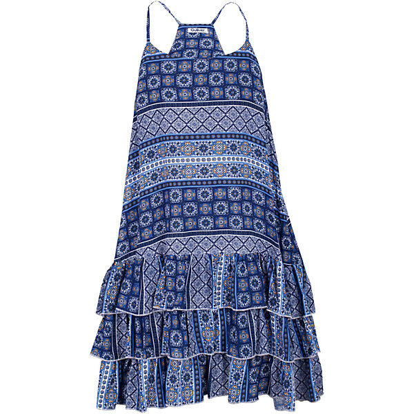 Платье для девочки GulliverПлатья и сарафаны<br>Ох уж, эти модницы... Их летний гардероб пестрит нарядами, но разве можно пройти мимо нового сарафана? Летний легкий сарафан для девочки выглядит потрясающе! Выполненный из тонкого орнаментального струящегося текстиля, сарафан очень пластичный, подвижный, приятный к телу. Элегантный трапециевидный силуэт, три ряда оборок по низу изделия делают сарафан ярким, заметным элементом летнего образа. Вы хотите купить сарафан, чтобы освежить гардероб ребенка, сделав его ярким, практичным и позитивным? Этот сарафан - лучшее решение для каждого дня жаркого лета!<br>Состав:<br>100% вискоза<br>Ширина мм: 236; Глубина мм: 16; Высота мм: 184; Вес г: 177; Цвет: белый; Возраст от месяцев: 108; Возраст до месяцев: 120; Пол: Женский; Возраст: Детский; Размер: 140,122,128,134; SKU: 5483996;