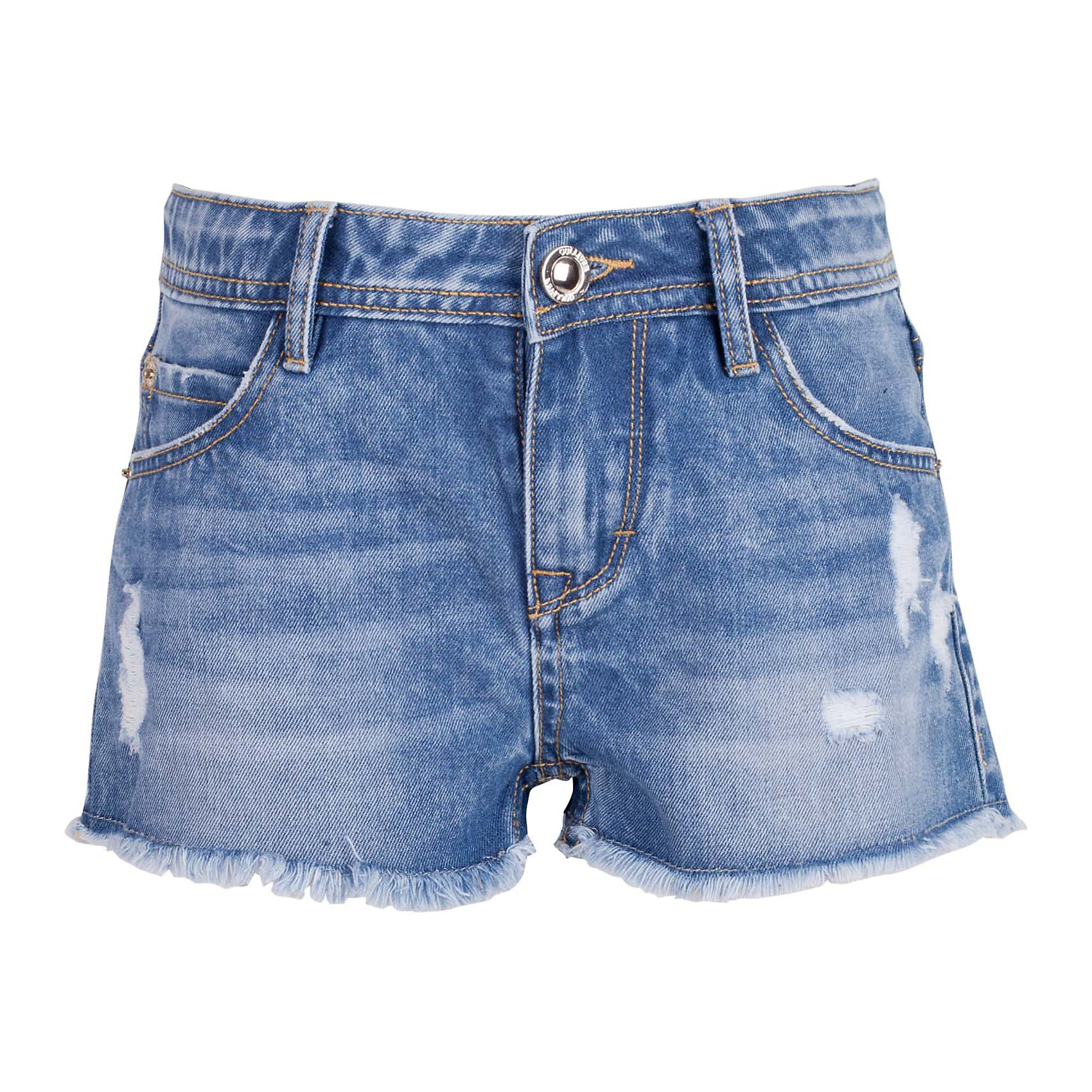 Шорты джинсовые для девочки GulliverШорты, бриджи, капри<br>Джинсовые шорты для девочки - изделие из разряда must have! Во-первых, это стильный удобный элемент гардероба, идеально подходящий к любой футболке, майке, джемперу. Во-вторых, джинсовые шорты очень практичны, а значит, незаменимы для активных игр и долгих прогулок на свежем воздухе. Многие, конечно, уже знакомы со стильными джинсовыми моделями от Gulliver! Модная посадка изделия на фигуре, варка, повреждения, потертости... В сезоне Весна/Лето 2017 у вас снова есть шанс купить шорты от лучшего бренда! Синие джинсовые шорты для девочки - оптимальное решение для яркого и комфортного лета!<br>Состав:<br>100% хлопок<br><br>Ширина мм: 191<br>Глубина мм: 10<br>Высота мм: 175<br>Вес г: 273<br>Цвет: синий<br>Возраст от месяцев: 108<br>Возраст до месяцев: 120<br>Пол: Женский<br>Возраст: Детский<br>Размер: 122,128,134,140<br>SKU: 5484036
