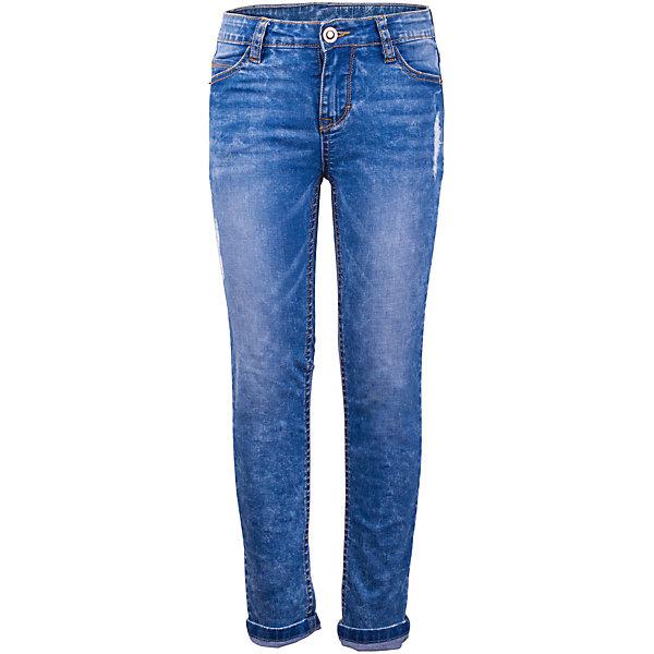 Джинсы для девочки GulliverДжинсовая одежда<br>Школьный сезон приближается к концу и пора составлять весенне-летний гардероб ребенка... Облегающие джинсы с варкой, потертостями и мелкими повреждениями будут лучшим подарком для юной модницы, став основой ее повседневного образа. Если вы решили купить хорошие детские джинсы, эта модель, обеспечивающая красивую посадку изделия на фигуре, удобство и функциональность - беспроигрышный вариант.<br>Состав:<br>98% хлопок      2% эластан<br><br>Ширина мм: 215<br>Глубина мм: 88<br>Высота мм: 191<br>Вес г: 336<br>Цвет: синий<br>Возраст от месяцев: 72<br>Возраст до месяцев: 84<br>Пол: Женский<br>Возраст: Детский<br>Размер: 122,140,134,128<br>SKU: 5484046