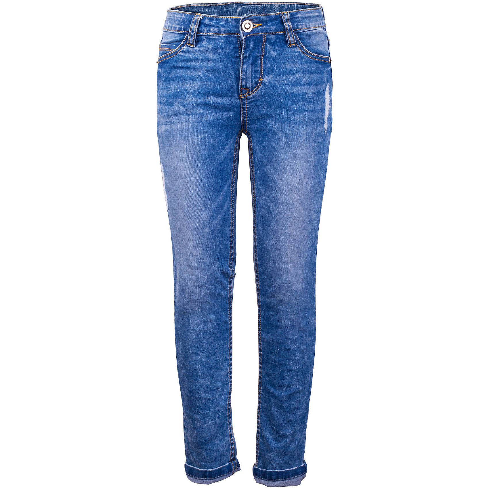 Джинсы для девочки GulliverДжинсы<br>Школьный сезон приближается к концу и пора составлять весенне-летний гардероб ребенка... Облегающие джинсы с варкой, потертостями и мелкими повреждениями будут лучшим подарком для юной модницы, став основой ее повседневного образа. Если вы решили купить хорошие детские джинсы, эта модель, обеспечивающая красивую посадку изделия на фигуре, удобство и функциональность - беспроигрышный вариант.<br>Состав:<br>98% хлопок      2% эластан<br><br>Ширина мм: 215<br>Глубина мм: 88<br>Высота мм: 191<br>Вес г: 336<br>Цвет: синий<br>Возраст от месяцев: 108<br>Возраст до месяцев: 120<br>Пол: Женский<br>Возраст: Детский<br>Размер: 140,122,128,134<br>SKU: 5484046