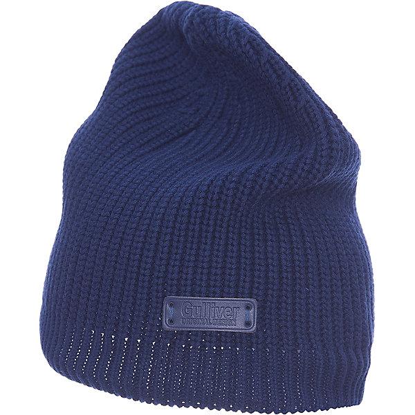 Шапка для девочки GulliverДемисезонные<br>Стильная вязаная шапка отлично дополнит повседневный образ ребенка. Мягкая, легкая, комфортная, она легко разместится  в кармане ветровки, куртки, жилетки, чтобы в любой момент защитить юную модницу от непогоды и ветра.<br>Состав:<br>100% хлопок<br><br>Ширина мм: 89<br>Глубина мм: 117<br>Высота мм: 44<br>Вес г: 155<br>Цвет: синий<br>Возраст от месяцев: 48<br>Возраст до месяцев: 60<br>Пол: Женский<br>Возраст: Детский<br>Размер: 52,54<br>SKU: 5484061