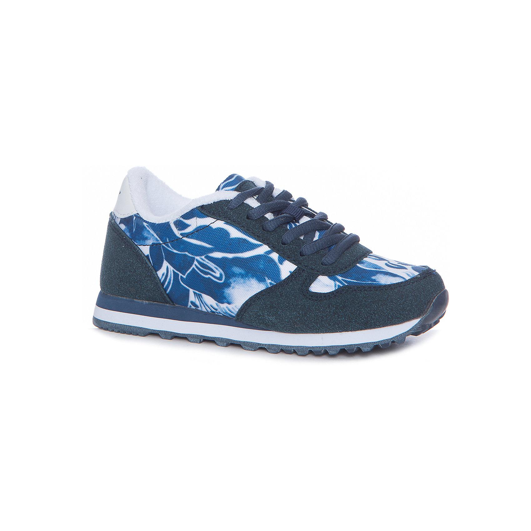Кроссовки для девочки GulliverКеды, кроссовки, слипоны… С каждым днем спортивная обувь все больше входит в жизнь наших детей, вытесняя привычные босоножки и туфли. Синие кроссовки с цветочным рисунком - мечта каждой модницы! Они отлично завершат любой образ в спортивном и casual стиле, придав ему остроту, динамику и индивидуальность. Стильный дизайн, красивая форма - ну что еще  нужно для модного комфортного лета? Если вы хотите купить классные кроссовки для девочки, создающие настроение, выбор этой модели - правильное решение!<br>Состав:<br>верх: текстиль, иск кожа, иск нубук, подклад: текстиль, стелька: текстиль, Eva; подошва: резина<br><br>Ширина мм: 250<br>Глубина мм: 150<br>Высота мм: 150<br>Вес г: 250<br>Цвет: синий<br>Возраст от месяцев: 96<br>Возраст до месяцев: 108<br>Пол: Женский<br>Возраст: Детский<br>Размер: 32,33,34,35,36,30,31<br>SKU: 5484077