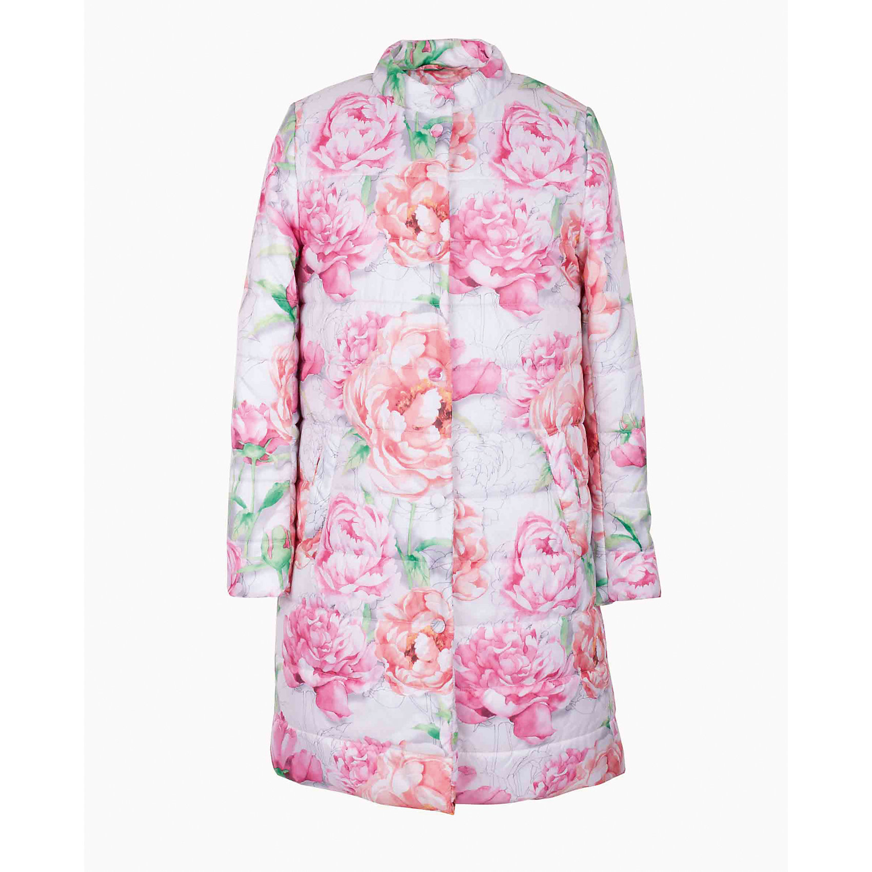 Пальто для девочки GulliverВерхняя одежда<br>Купить пальто или куртку? - такой вопрос задают себе мамы девочек, отправляясь на весенний шопинг. Но, увидев детское пальто из коллекции Цветные истории, сомнений не будет! Погода весной весьма обманчива, но уже с первых дней марта хочется носить все светлое, позитивное, яркое. Классное пальто для девочки с крупным оригинальным цветочным рисунком - ваш ответ весенней прохладе и сырости! Детское пальто на синтепоне вас не разочарует. Мягкое, легкое, удобное, оно подарит комфорт и создаст отличное настроение.<br>Состав:<br>верх:               100% полиэстер; подкладка:           100% полиэстер; утеплитель:           100% полиэстер<br><br>Ширина мм: 356<br>Глубина мм: 10<br>Высота мм: 245<br>Вес г: 519<br>Цвет: белый<br>Возраст от месяцев: 72<br>Возраст до месяцев: 84<br>Пол: Женский<br>Возраст: Детский<br>Размер: 122,140,128,134<br>SKU: 5484148