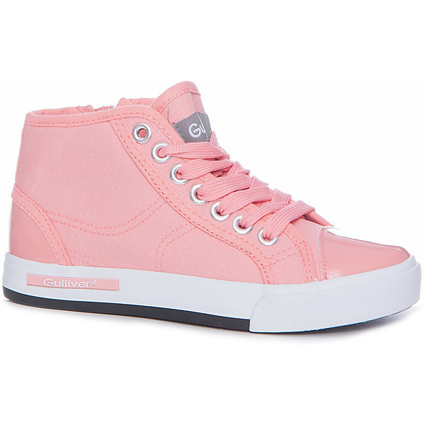 Кеды для девочки GulliverКеды<br>Кеды, кроссовки, ботинки… С каждым днем спортивная обувь все больше входит в жизнь наших детей, вытесняя босоножки и туфли. Высокие розовые кеды с лаковым носком - мечта каждой модницы! Они отлично завершат любой образ в спортивном и casual стиле, придав ему новизну и индивидуальность. Розовые текстильные кеды для девочки выглядят потрясающе! Стильный дизайн, красивая форма, приятная фактура основного воздухопроницаемого материала, комфорт - ну что еще  нужно для отдыха и прогулок? Если вы хотите купить модные детские кеды, создающие настроение, выбор этой модели - правильное решение!<br>Состав:<br>Верх: канвас, подклад: канвас, стелька: канвас, EVA, подошва: вулканизированная резина<br><br>Ширина мм: 250<br>Глубина мм: 150<br>Высота мм: 150<br>Вес г: 250<br>Цвет: розовый<br>Возраст от месяцев: 84<br>Возраст до месяцев: 96<br>Пол: Женский<br>Возраст: Детский<br>Размер: 31,30,36,35,34,33,32<br>SKU: 5484167