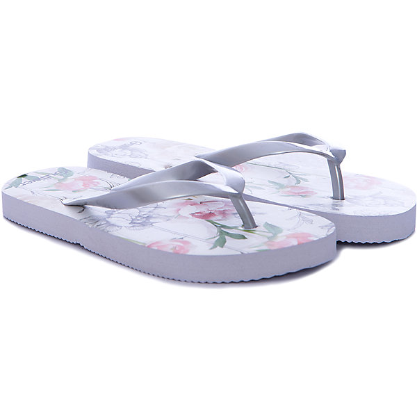Шлепанцы для девочки GulliverПляжная обувь<br>Пляжная обувь - вещь, совершенно необходимая для отдыха у воды. Мягкие резиновые тапочки-вьетнамки для девочки надежно защитят ножку ребенка от мелкой гальки и горячего песка. Если вы решили купить ребенку пляжную обувь, обратите внимание на эту модель! Нежный цветочный принт из коллекции Цветные истории вызовет у девочки  восторг, подарив отличное настроение на весь день!<br>Состав:<br>верх: PVC;                                  подошва:EVA<br><br>Ширина мм: 248<br>Глубина мм: 135<br>Высота мм: 147<br>Вес г: 256<br>Цвет: белый<br>Возраст от месяцев: 72<br>Возраст до месяцев: 84<br>Пол: Женский<br>Возраст: Детский<br>Размер: 30,36,35,34,33,32,31<br>SKU: 5484175