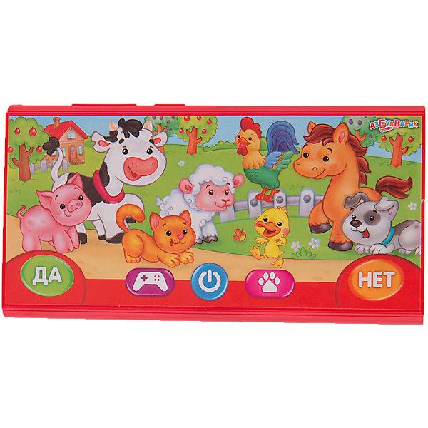 Игровой смартфончик Кто на ферме?Детские музыкальные инструменты<br>Игровой смартфончик Кто на ферме?.<br><br>Характеристика:<br><br>• Материал: пластик.  <br>• Размер: 14,5 х 7,2 х 1,4 см. <br>• 24 вопроса и 16 загадок по четырем игровым темам: чьи детки, чей домик, что у кого на обед, кто что даёт.<br>• Элемент питания: батарейки (в комплекте).<br>• Песенки-потешки и мелодии: Петушок, Раным-рано поутру, Топ-топ, топотушки, Кошкин дом, Калинка, Ладушки, Солнышко-колоколнышко, Дождик, сказки: Бычок - смоляной бочок, Петушок и бобовое зёрнышко, Кот, петух и лиса, Три поросёнка, Собачий вальс, Танец маленьких утят, Калинка, Ладушки.<br>• Яркий привлекательный дизайн.<br><br>Хочешь посетить музыкальную ферму? Тогда скорее включай этот детский гаджет. Яркий игровой смартфончик обязательно понравится малышам! Любимые всеми песни и потешки, игры и загадки надолго привлекут внимание ребенка и подарят море положительных эмоций. Игрушка выполнена из высококачественного прочного пластика безопасного для детей. <br><br>Игровой смартфончик Кто на ферме? можно купить в нашем интернет-магазине.<br>Ширина мм: 210; Глубина мм: 150; Высота мм: 20; Вес г: 150; Возраст от месяцев: 24; Возраст до месяцев: 48; Пол: Унисекс; Возраст: Детский; SKU: 5484218;