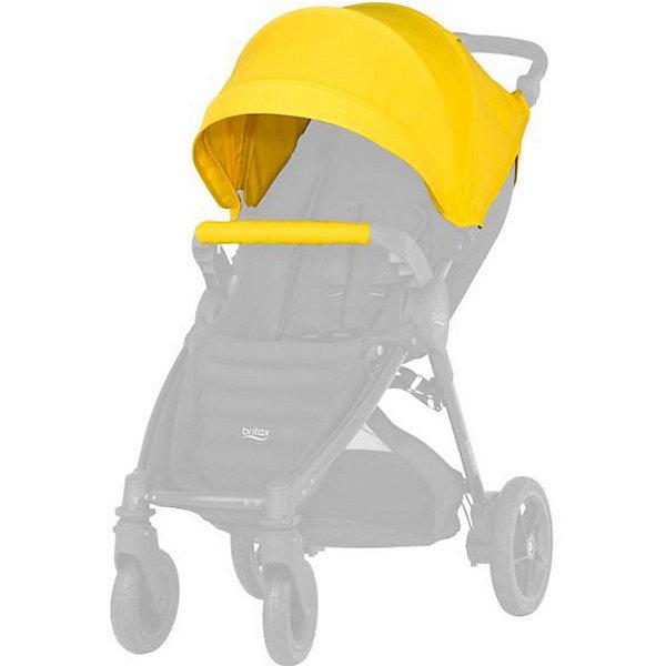 Капор для коляски B-Agile/ B-Motion 4 Plus, Britax, Sunshine YellowАксессуары для колясок<br>Капор с большим козырьком для прогулок в любую погоду. Совместима с: B-AGILE 4 PLUS, B-MOTION 4 PLUS.  обеспечит дополнительную защиту от ветра, дождя, снега или солнца. Большой выбор расцветок на выбор. Легко и просто устанавливается на коляску. Вес капора: 1 кг<br><br>Ширина мм: 440<br>Глубина мм: 510<br>Высота мм: 100<br>Вес г: 1300<br>Возраст от месяцев: 0<br>Возраст до месяцев: 48<br>Пол: Унисекс<br>Возраст: Детский<br>SKU: 5484731