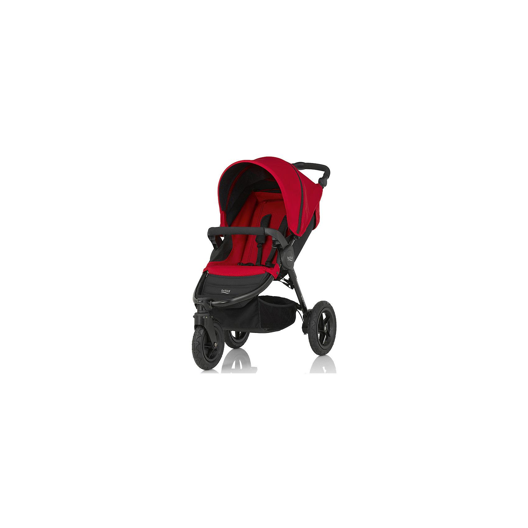 Прогулочная коляска Britax B-Motion 3, Flame RedПрогулочные коляски<br>B-Motion 3 - это легкая и прочная коляска, складывающаяся буквально одним движением руки. Благодаря износостойким надувным шинам коляска покажет отличную проходимость на любой дороге! А с помощью адаптеров CLICK &amp; GO® легко и просто установить автолюльку Baby-Safe Sleeper или автопереноски Baby-Safe непосредственно на шасси коляски B-Motion 3. <br>Особенности: <br>Для детей с рождения до 15 кг<br>Легкая алюминиевая рама<br>Простое и компактное складывание с автоматической фиксацией<br>Регулируемая ручка<br>Компактный размер в сложенном состоянии (35х58х70 см).<br>Амортизаторы на задних колесах.<br>5-точечные ремни безопасности.<br>Поворотное переднее колесо с возможностью фиксации.<br>Большие надувные колеса, износостойкие покрышки.<br>Большая корзина для покупок.<br>Возможна дополнительная установка люльки в качестве опции.<br>Комплектация: прогулочный блок, бампер, переходники CLICK &amp; GO® для спального блока и автолюлек Britax R?mer.<br>Гарантия на коляску - 2 года.<br><br>Ширина мм: 800<br>Глубина мм: 480<br>Высота мм: 310<br>Вес г: 13700<br>Возраст от месяцев: 0<br>Возраст до месяцев: 48<br>Пол: Унисекс<br>Возраст: Детский<br>SKU: 5484739
