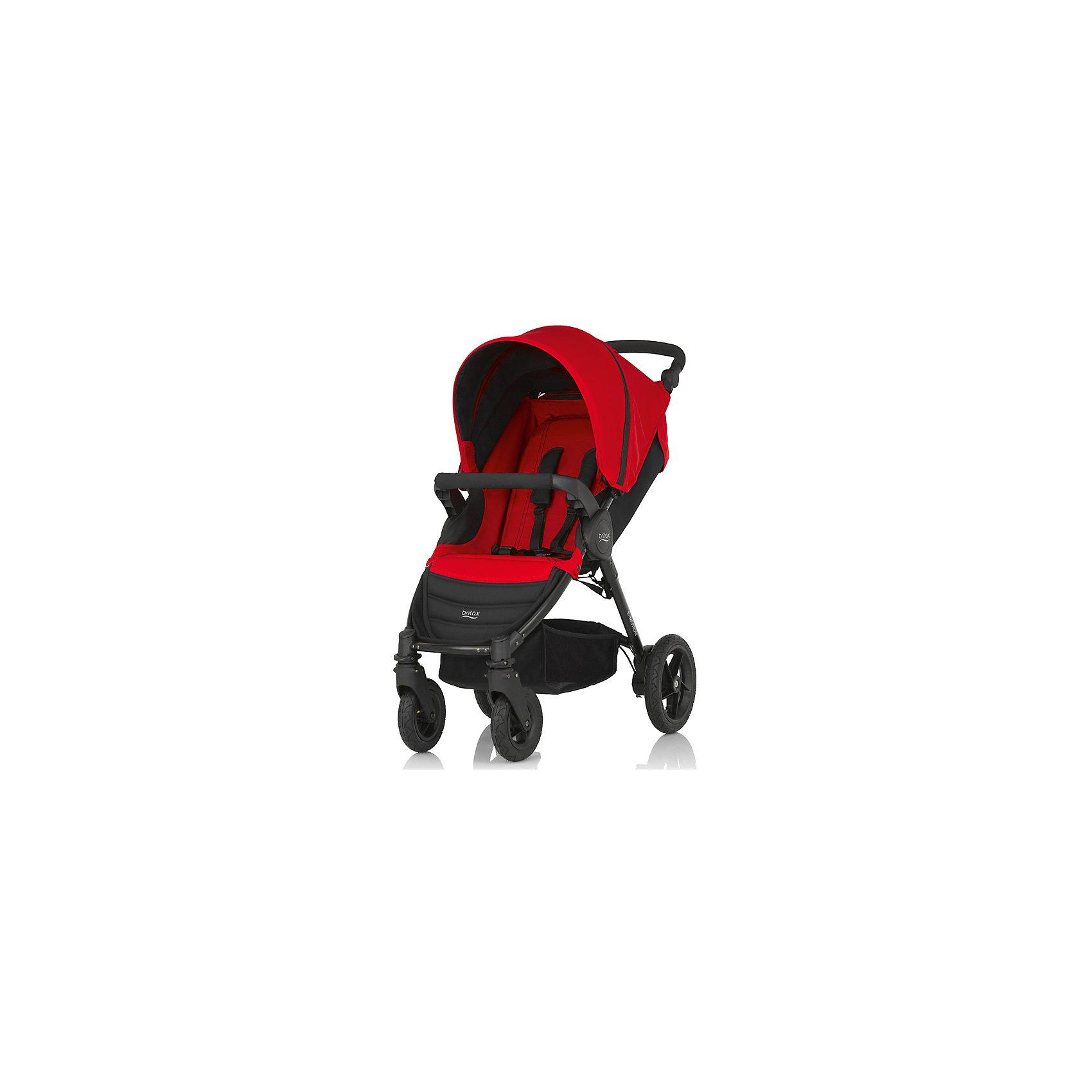 Прогулочная коляска Britax B-Motion 4, Flame RedПрогулочные коляски<br>Коляска Britax B-Motion - это 4-колесная городская система Travel System с уникальной системой сложения коляски одной рукой - просто нажмите фиксатор и потяните ремень! <br>Легкая и маневренная коляска имеет легкий алюминиевый каркас и прочные покрышки, что дает максимальную свободу, куда бы вы ни отправились. Спинка, раскладывающаяся в горизонтальное положение, бампер для ребенка, капор с встроенной москитной сеткой сделает прогулку с малышом удобной и комфортной. <br>Коляски B-Motion также совместимы с автолюлькой Baby-Safe Sleeper и автопереносками Baby-Safe. <br>Подходит с рождения и до 15 кг<br>Легкая алюминиевая рама<br>Простое и компактное складывание с автоматической фиксацией<br>Регулируемая ручка<br>Амортизаторы на задних колесах<br>5-точечные ремни безопасности<br>Блокируемые или поворотные передние колеса<br>Износостойкие покрышки<br>Большая корзина для покупок<br>Возможна дополнительная установка люльки в качестве опции<br>Гарантия на коляску Britax B-Motion - 2 года.<br>Комплектация: прогулочный блок, поручень, переходники для Baby Safe plus<br><br>Ширина мм: 780<br>Глубина мм: 470<br>Высота мм: 230<br>Вес г: 14000<br>Возраст от месяцев: 0<br>Возраст до месяцев: 48<br>Пол: Унисекс<br>Возраст: Детский<br>SKU: 5484741