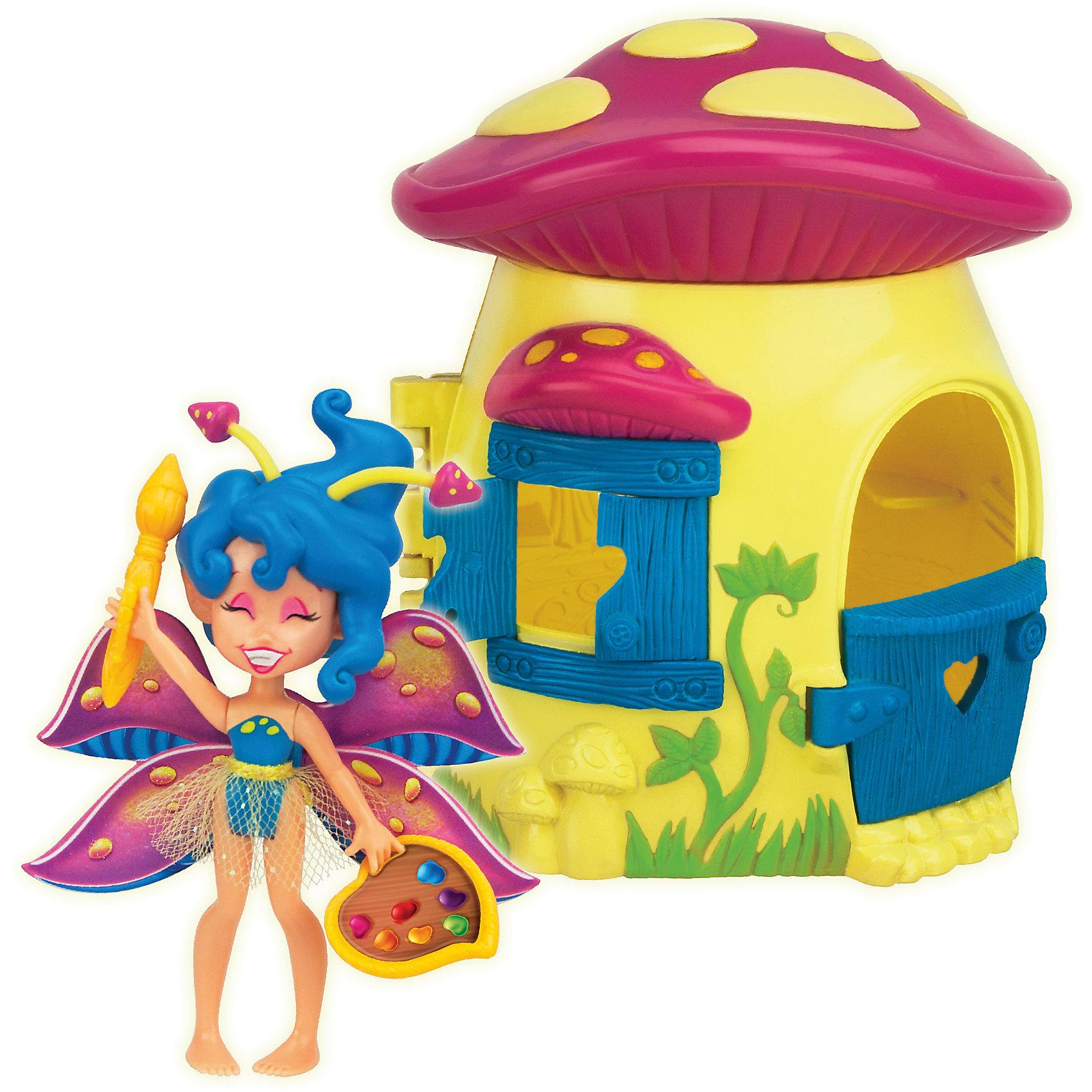 Набор: Фея Спора и лесной домик-гриб, LanardМини-куклы<br>Характеристики товара:<br><br>• возраст: от 4 лет;<br>• материал: пластик;<br>• в комплекте: кукла, домик, аксессуары;<br>• высота куклы: 8,5 см;<br>• размер упаковки: 18,5х17х11 см;<br>• вес упаковки: 240 гр.;<br>• страна производитель: Китай.<br><br>Игровой набор «Фея Спора и лесной домик-гриб» Lanard включает в себя сказочную фею, которая живет в прекрасном волшебном саду. Спора любит рисовать, поэтому у нее всегда с собой кисть и краски. Фея одета в платье с блестящей юбкой, а за спиной у нее необычные разноцветные крылышки.<br><br>Живет фея в ярком домике в форме грибочка, у которого открывается дверь и ставни на окнах. У куклы подвижные голова, ручки и ножки. Игра с очаровательной феей станет для девочки увлекательным процессом, который поспособствует развитию воображения и фантазии. <br><br>Игровой набор «Фея Спора и лесной домик-гриб» Lanard можно приобрести в нашем интернет-магазине.<br><br>Ширина мм: 165<br>Глубина мм: 177<br>Высота мм: 100<br>Вес г: 289<br>Возраст от месяцев: 36<br>Возраст до месяцев: 2147483647<br>Пол: Женский<br>Возраст: Детский<br>SKU: 5485122