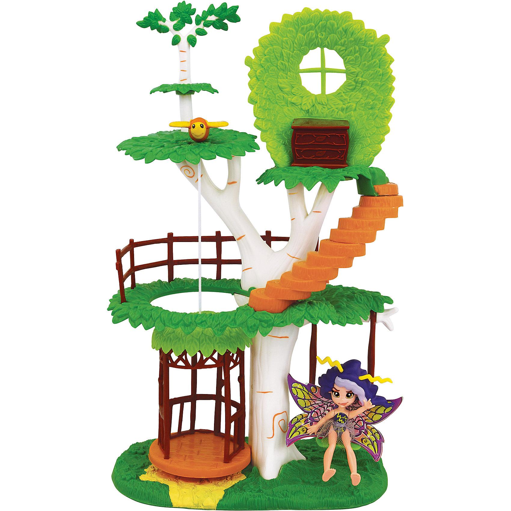 Набор: Фея Вольтесса и Домик-дерево, LanardМини-куклы<br>Характеристики товара:<br><br>• возраст: от 4 лет;<br>• материал: пластик;<br>• в комплекте: кукла, домик, аксессуары;<br>• высота куклы: 8,5 см;<br>• высота домика: 31 см;<br>• размер упаковки: 35х21х12 см;<br>• вес упаковки: 580 гр.;<br>• страна производитель: Китай.<br><br>Игровой набор «Фея Вольтесса и Домик-дерево» Lanard включает в себя сказочную фею, которая живет в прекрасном волшебном саду. Вольтесса увлекается магией и часто пользуется своей магической книгой. Фея одета в фиолетовое блестящее платье, а за спиной у нее необычные разноцветные крылышки.<br><br>Живет фея в домике-дереве. У домика 3 уровня, добраться на верхние этажи можно при помощи лифта и винтовой лестницы. У куклы подвижные голова, ручки и ножки. Игра с очаровательной феей станет для девочки увлекательным процессом, который поспособствует развитию воображения и фантазии. <br><br>Игровой набор «Фея Вольтесса и Домик-дерево» Lanard можно приобрести в нашем интернет-магазине.<br><br>Ширина мм: 342<br>Глубина мм: 203<br>Высота мм: 110<br>Вес г: 671<br>Возраст от месяцев: 36<br>Возраст до месяцев: 2147483647<br>Пол: Женский<br>Возраст: Детский<br>SKU: 5485126