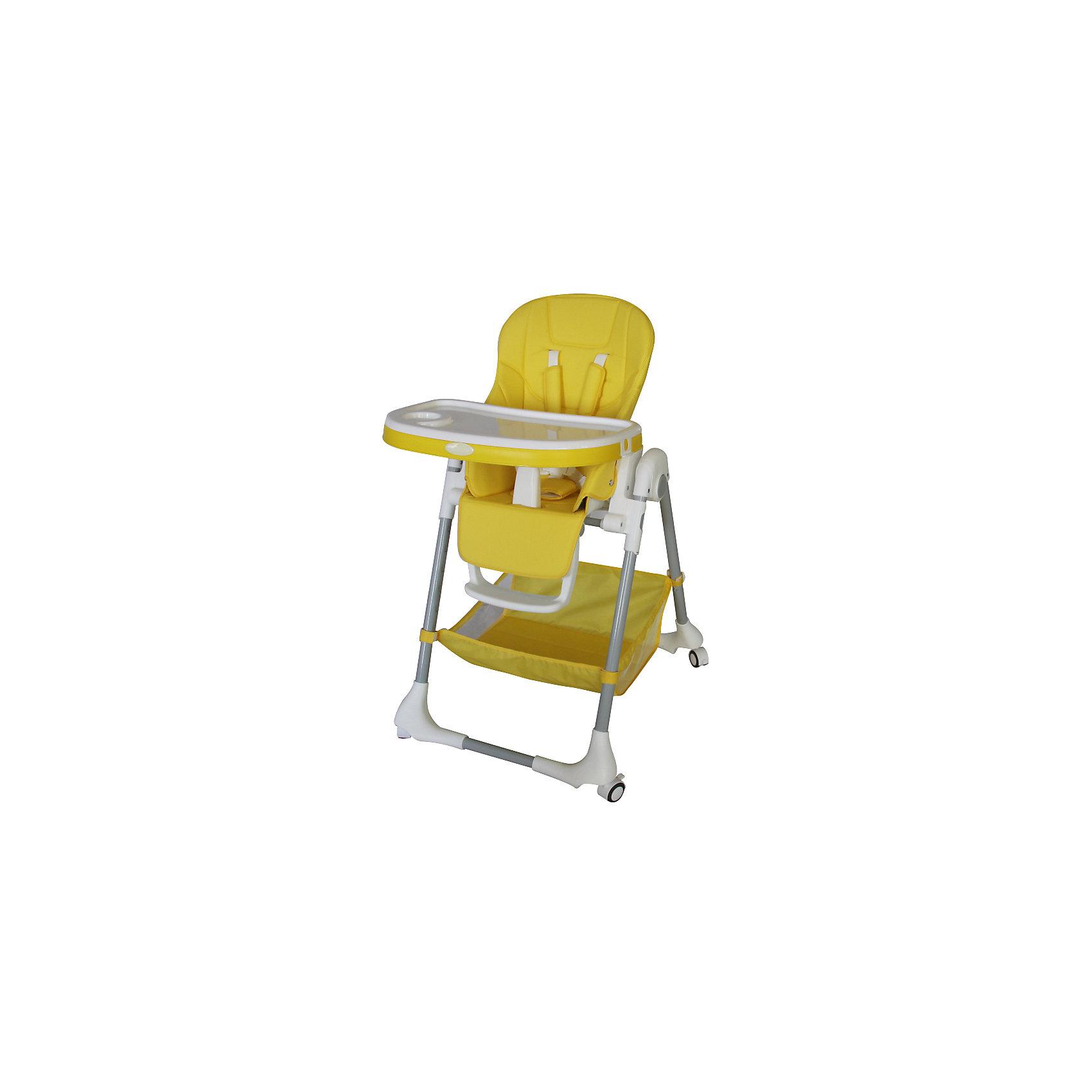 Стульчик для кормления, Aricare, YellowСтульчики для кормления<br>Функциональный стульчик для кормления, сиденье которого изготовлено из качественного кожзаменителя. Для детей от 5-6 месяцев до 4-5 лет (Максимальный вес до 25 кг). Элегантные расцветки легко впишутся в интерьер кухни или гостиной. Обладает всеми необходимыми регулировками, которые позволят Вам с малышом в полной мере насладиться временем, проведенным вместе. Легко перемещается по квартире за счет колес на всех 4 ножках, оснащены стопорами.<br><br>Подробное описание стульчика для кормления Aricare 1014-B<br><br>просторное сиденье из экологичного, гипоаллергенного кожзаменителя<br>съемная обивка легко поддается чистке влажной тряпкой<br>легко передвигать по квартире за счет 4 колес со стопорами<br>рассчитан на долгий период использования - с 6 месяцев до максимального веса в 25 кг<br>при наклоне сиденья угол между сиденьем и спинкой увеличивается, и малыш может вытянуть ножки и вздремнуть.<br>большая и удобная съемная двойная столешница, регулируемая по глубине (3 положения), размеры 63*30, на ножках предусмотрены специальные крепления для снятой столешницы <br>удобные 5-ти точечные ремни безопасности с мягкими плечевыми накладками<br>центральный замок на ремнях безопасности<br>удобное и просторное сиденье: ширина 27см, глубина 23 смвысота сиденья от пола: от 27см до 64 см (7 положений)<br>регулируемая в трех положениях подножка (длина 15 см, вместе с сиденьем образуют ровную поверхность)<br>оснащен дополнительной защитой от выскальзывания ребенка<br>регулировка по высоте (от 84 до 105 см)регулировка по наклону (5 положений), <br>включая положение для отдыха, легко меняется одной рукой<br>просторная корзина и кармашек для мелочей<br>легко складывается и раскладывается, компактен в сложенном состоянии (84 х 30 см)в сложенном состоянии стоит вертикально<br>стульчик складывается вместе со столешницей<br>устойчив, (ширина по колесикам 57 х 72 см)<br>Сертификат международного образца SGS EN1888 и Сертификат