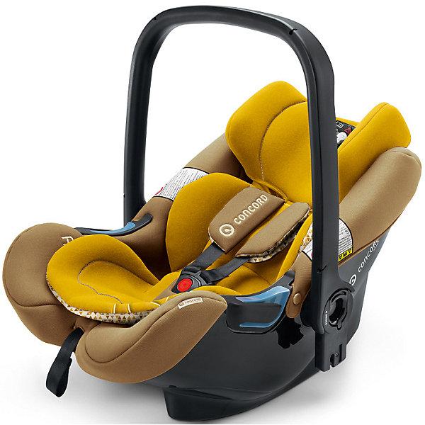 Автокресло Concord Air.Safe, 0-13 кг, Sweet CurryГруппа 0+  (до 13 кг)<br>Характеристики автокресла:<br><br>• группа автокресла: 0+ ;<br>• возраст ребенка: от рождения до года;<br>• вес ребенка: до 13 кг;<br>• способ установки: против хода движения автомобиля;<br>• способ крепления: база Isofix или при помощи ремней безопасности;<br>• автокресло может быть установлено на рамы колясок от Concord серий Fusion и Neo;<br>• кнопка системы TS упрощает процесс установки кресла на базу или шасси коляски;<br>• победитель краш-тестов 2014 ADAC.<br><br>Особенности автокресла:<br><br>• высокие боковины для защиты от боковых ударов;<br>• подголовник эргономической формы регулируется в 3-х положениях по высоте;<br>• регулировка ручки для переноски;<br>• мягкий, дышащий гипоаллергенный материал;<br>• съемные чехлы, можно стирать при 30С.<br><br>Размеры:<br><br>• размер автокресла 63х44х57 см;<br>• вес автокрела: 2,9 кг;<br>• размер упаковки: 35х68х45 см;<br>• вес в упаковке: 4,5 кг.<br><br>Дополнительная комплектация:<br><br>• козырек от солнечных лучей;<br>• двухсторонний вкладыш для новорожденного;<br>• адаптер для установки автокресла на коляски с унифицированным креплением Maxi-Cosi.<br><br>Автокресло Air.Safe, 0-13 кг, Concord, Sweet Curry можно купить в нашем интернет-магазине.<br>Ширина мм: 350; Глубина мм: 680; Высота мм: 450; Вес г: 4500; Цвет: желтый; Возраст от месяцев: 0; Возраст до месяцев: 12; Пол: Унисекс; Возраст: Детский; SKU: 5485155;