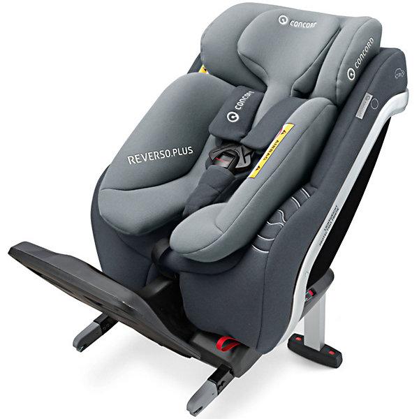 Автокресло Concord Reverso.Plus, 0-23 кг, Graphite GreyГруппа 0+  (до 13 кг)<br>Характеристики автокресла Concord Reverso.Plus:<br><br>• возраст ребенка: от рождения до 4-х лет;<br>• вес ребенка: до 23 кг;<br>• рост ребенка: до 105 см;<br>• способ крепления: система ISOFIX + дополнительный упор в пол;<br>• способ установки: против хода движения;<br>• первое место по результатам немецких краш-тестов ADAC и шведского теста VTI (Plus Test);<br>• материал: алюминий, пластик, полиэстер;<br>• размер автокресла: 44х46х80 см;<br>• вес: 10,9 кг;<br>• размер упаковки: 43х86х45 см;<br>• вес в упаковке: 16 кг.<br><br>Особенности автокресла Reverso Plus: <br><br>• высота ножки-упора регулируется;<br>• регулируемый подголовник;<br>• регулируемый угол наклона спинки, рычаг регулировки находится в верхней части кресла за подголовником;<br>• наличие вентиляционных вставок на спинке кресла;<br>• система натяжения внутренних 5-ти точечных ремней;<br>• цветовые индикаторы red/green показывают правильность установки;<br>• прочная алюминиевая рама. <br><br>Автокресло Reverso.Plus, 0-23 кг, Concord, Graphite Grey можно купить в нашем интернет-магазине.<br><br>Ширина мм: 430<br>Глубина мм: 860<br>Высота мм: 450<br>Вес г: 16000<br>Цвет: серый<br>Возраст от месяцев: 0<br>Возраст до месяцев: 48<br>Пол: Унисекс<br>Возраст: Детский<br>SKU: 5485157