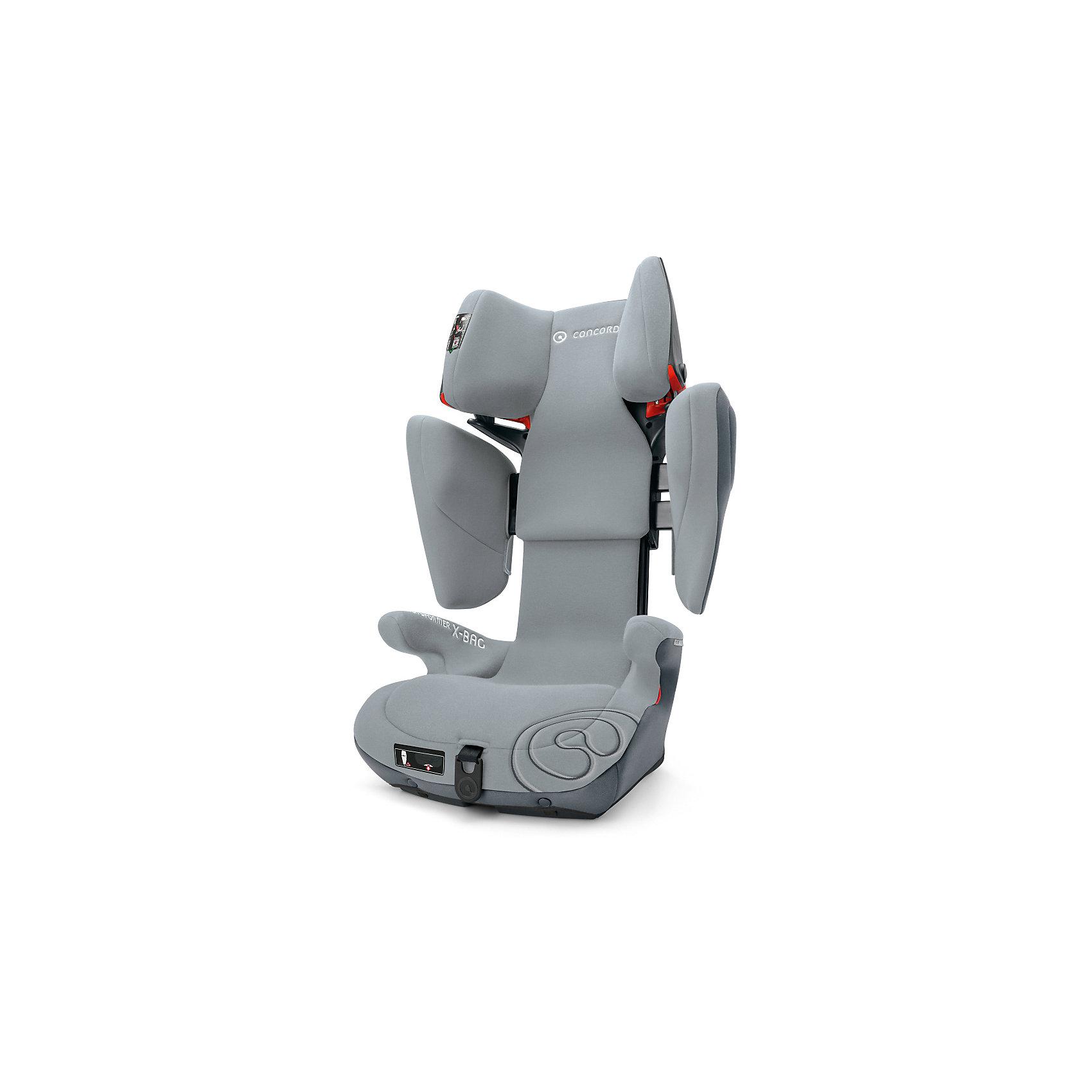 Автокресло Concord Transformer X-BAG, 15-36 кг, Graphite GreyГруппа 2-3 (От 15 до 36 кг)<br>Характеристики автокресла:<br><br>• группа 2-3;<br>• возраст ребенка: от 3 до 12 лет;<br>• вес ребенка: 15-36 кг;<br>• способ установки: по ходу движения автомобиля;<br>• 2 способа крепления: система IsoFix или штатные ремни безопасности;<br>• компактный ударопрочный каркас;<br>• защита от боковых ударов;<br>• регулировка наклона спинки;<br>• регулировка подголовника;<br>• регулировка размера кресла;<br>• ортопедические свойства спинки и основания;<br>• встроенный пневмопривод;<br>• размер автокресла: 46х45х64 см;<br>• высота подголовника: 62-82 см;<br>• вес автокресла: 9,7 кг;<br>• материал: пластик, полиэстер;<br>• стандарт безопасности: ECE R44/04.<br><br>Автокресло Transformer X-BAG, 15-36 кг, Concord, Graphite Grey можно купить в нашем интернет-магазине.<br><br>Ширина мм: 450<br>Глубина мм: 450<br>Высота мм: 640<br>Вес г: 9700<br>Цвет: серый<br>Возраст от месяцев: 36<br>Возраст до месяцев: 144<br>Пол: Унисекс<br>Возраст: Детский<br>SKU: 5485166