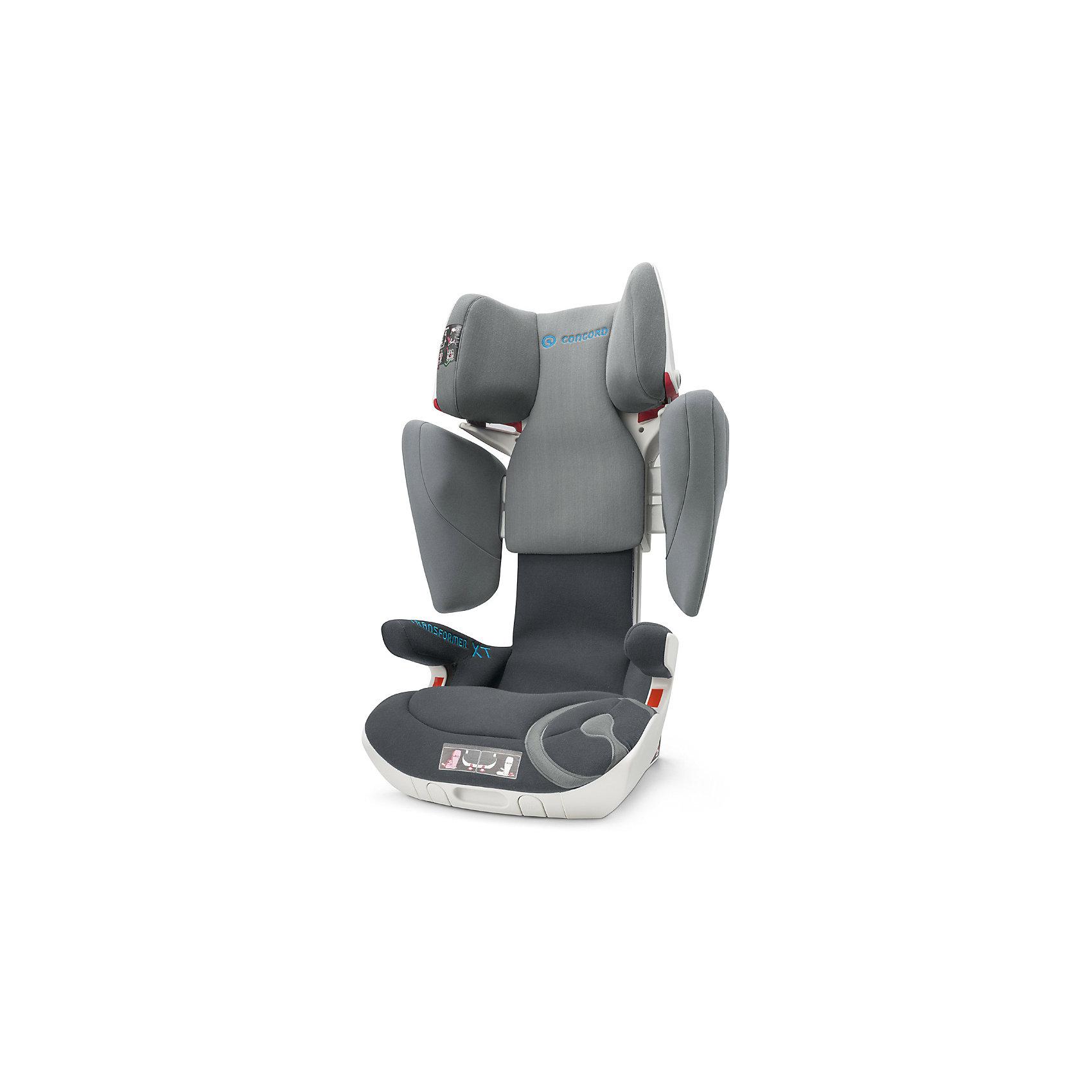 Автокресло Concord Transformer XT, 15-36 кг, Stone GreyГруппа 2-3 (От 15 до 36 кг)<br>Характеристики автокресла:<br><br>• группа 2-3;<br>• возраст ребенка: от 3 до 12 лет;<br>• вес ребенка: 15-36 кг;<br>• способ установки: по ходу движения автомобиля;<br>• 2 способа крепления: система TWINFIX или штатные ремни безопасности;<br>• компактный ударопрочный каркас;<br>• защита от боковых ударов;<br>• регулировка наклона спинки;<br>• регулировка подголовника;<br>• регулировка размера кресла;<br>• ортопедические свойства спинки и основания;<br>• встроенный пневмопривод;<br>• размер автокресла: 46х49х62 см;<br>• высота подголовника: 62-82 см;<br>• вес автокресла: 9,9 кг;<br>• вес в упаковке: 11 кг;<br>• материал: пластик, полиэстер;<br>• стандарт безопасности: ECE R44/04.<br><br>Автокресло Concord Transformer XT имеет прочный каркас, который надежно защищает ребенка во время поездки. Боковые подушки имеют дополнительный слой энергопоглощающей изоляции, которая понижает силу удара. Автокресло с ортопедической спинкой, которая способствует правильному формированию позвоночника. Наполнитель автокресла Трансформер ИксТи обладает эффектом памяти, который со временем принимает форму тела ребенка.<br><br>Установка автокресла: устанавливается по ходу движения с помощью системы isofix. Ребенок в автокресле фиксируется штатным ремнем автомобиля. При отсутствии крепления isofix можно установить автокресло при помощи штатных ремней безопасности. Направляющие с защелками для ремня в подголовнике исключают его самопроизвольное выпадение.<br><br>Автокресло Transformer XT, 15-36 кг, Concord, Stone Grey можно купить в нашем интернет-магазине.<br><br>Ширина мм: 450<br>Глубина мм: 450<br>Высота мм: 640<br>Вес г: 11000<br>Цвет: серый<br>Возраст от месяцев: 36<br>Возраст до месяцев: 144<br>Пол: Унисекс<br>Возраст: Детский<br>SKU: 5485174