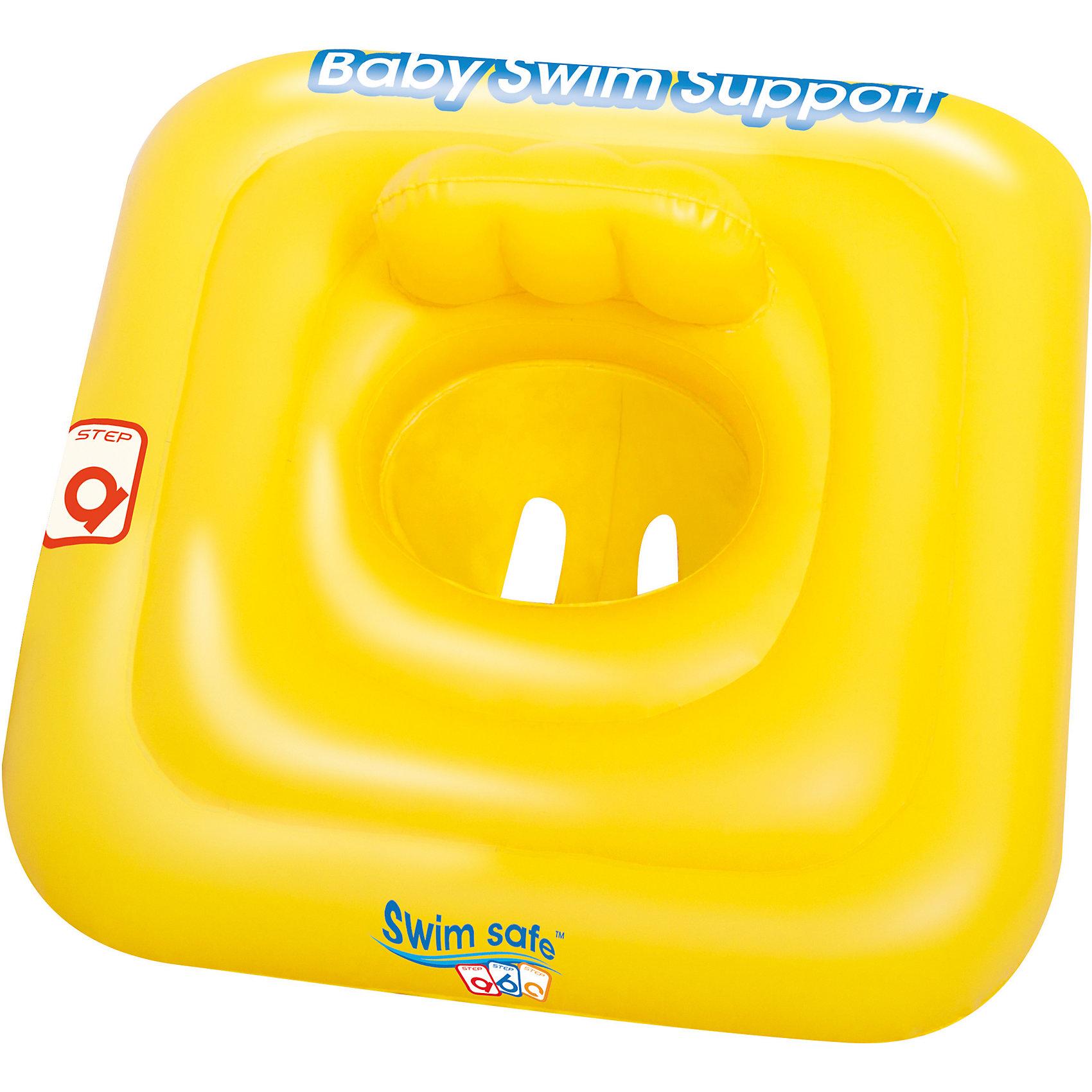 Плотик для плавания c сиденьем и спинкой Swim Safe, ступень A, BestwayКруги и нарукавники<br>Плотик для плавания c сиденьем и спинкой Swim Safe, ступень A, Bestway (Бествей)<br><br>Характеристики:<br><br>• удобное сиденье со спинкой<br>• материал: ПВХ<br>• размер: 69х69 см<br>• размер упаковки: 34х36х46 см<br>• вес: 557 грамм<br><br>С плотиком Bestway ваш малыш сможет всегда плавать рядом с вами, наслаждаясь плавным покачиванием на воде. Изделие изготовлено из ПВХ высокой прочности. Плотик имеет два отверстия для ножек и удобное сидение со спинкой, которая станет отличной опорой для малыша.<br><br>Плотик для плавания c сиденьем и спинкой Swim Safe, ступень A, Bestway (Бествей) вы можете купить в нашем интернет-магазине.<br><br>Ширина мм: 460<br>Глубина мм: 360<br>Высота мм: 340<br>Вес г: 557<br>Возраст от месяцев: 0<br>Возраст до месяцев: 12<br>Пол: Унисекс<br>Возраст: Детский<br>SKU: 5486878