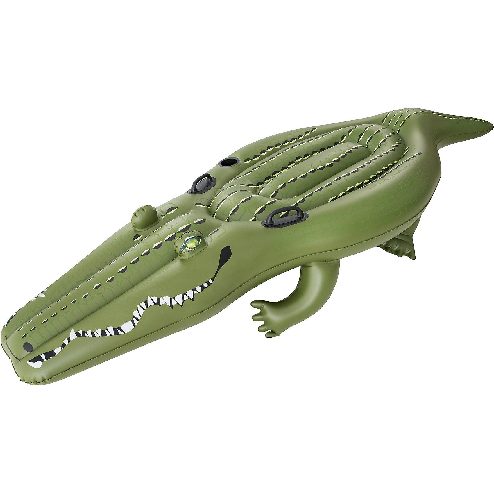 Надувной крокодил для катания верхом, BestwayМатрасы и лодки<br>Надувной крокодил для катания верхом, Bestway (Бествей)<br><br>Характеристики:<br><br>• вместительный крокодил для всей семьи<br>• есть отверстие для стакана<br>• прочные ручки<br>• заплатка в комплекте<br>• материал: ПВХ<br>• размер: 259х104 см<br>• вес: 3,7 кг<br>• размер упаковки: 11х40х39 см<br><br>Большой надувной крокодил никого не оставит равнодушным! Большая поверхность плавательного средства подойдет для каждого члена семьи.  Для вашего удобства крокодил оснащен удобными ручками и отверстием для стакана с напитками.<br><br>Надувного крокодила для катания верхом, Bestway (Бествей) можно купить в нашем интернет-магазине.<br><br>Ширина мм: 420<br>Глубина мм: 335<br>Высота мм: 415<br>Вес г: 3689<br>Возраст от месяцев: 36<br>Возраст до месяцев: 2147483647<br>Пол: Унисекс<br>Возраст: Детский<br>SKU: 5486888