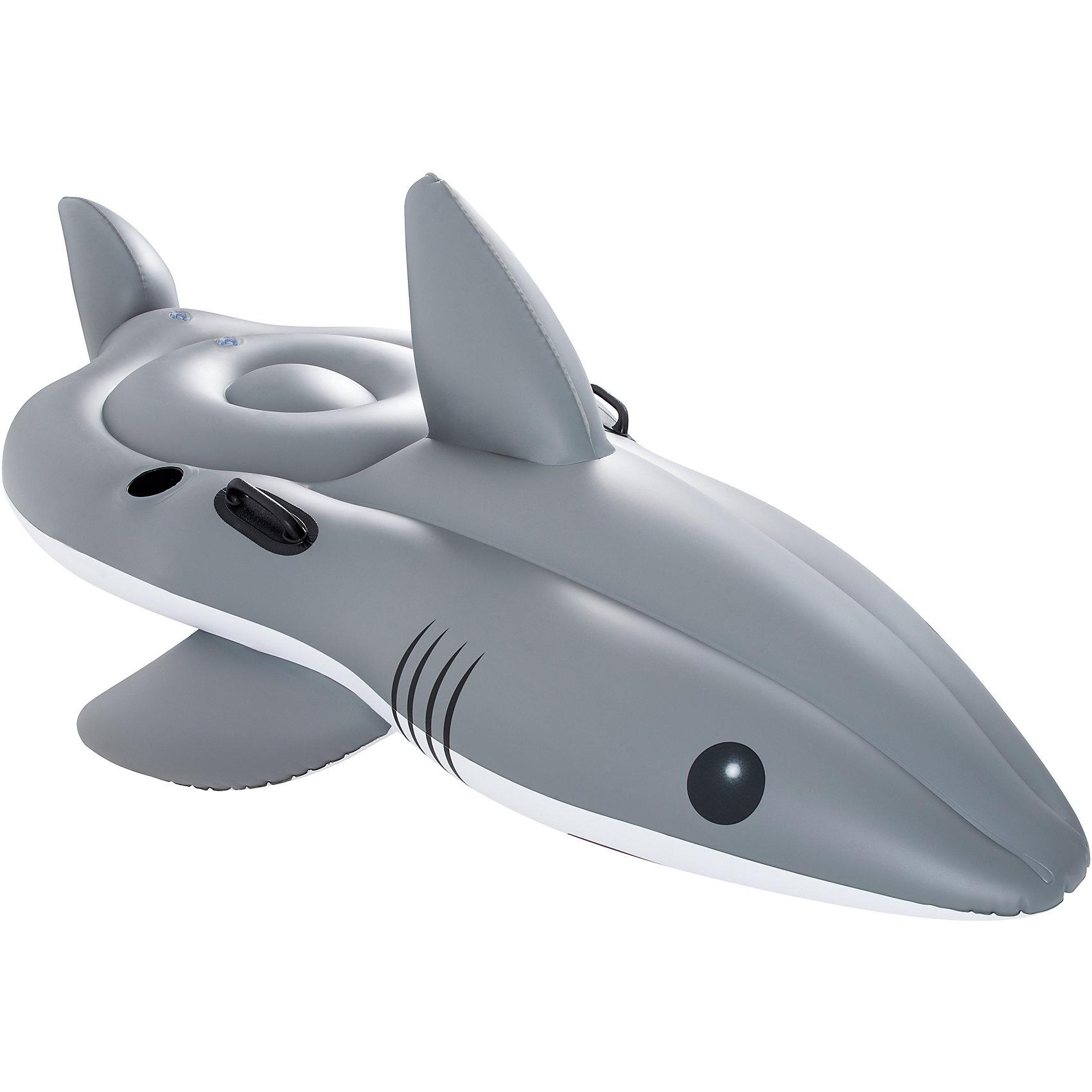 Надувная акула для катания верхом, BestwayМатрасы и лодки<br>Надувная акула для катания верхом, Bestway (Бествей)<br><br>Характеристики:<br><br>• вместительная акула для всей семьи<br>• есть отверстие для стакана<br>• прочные ручки<br>• заплатка в комплекте<br>• материал: ПВХ<br>• размер: 254х122 см<br>• вес: 4 кг<br>• размер упаковки: 12х41х40 см<br><br>Забавная акула поможет вам разнообразить отдых в воде. Садитесь верхом на акулу, держитесь за плавник - веселье гарантировано! Для вашего комфорта плотик оснащен удобными прочными ручками и специальным держателем для стаканов или бутылок с напитками. <br><br>Надувную акулу для катания верхом, Bestway (Бествей) можно купить в нашем интернет-магазине.<br><br>Ширина мм: 420<br>Глубина мм: 365<br>Высота мм: 415<br>Вес г: 3997<br>Возраст от месяцев: 36<br>Возраст до месяцев: 2147483647<br>Пол: Унисекс<br>Возраст: Детский<br>SKU: 5486889